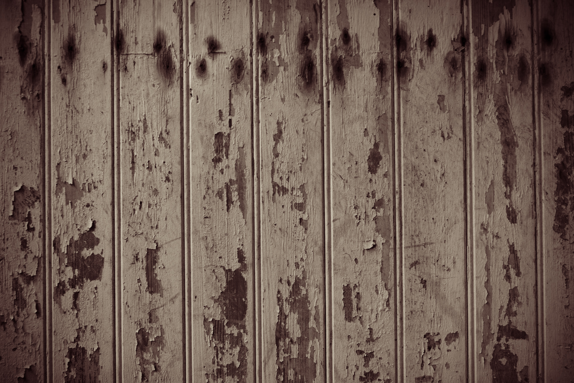 Old worn wooden panels photo