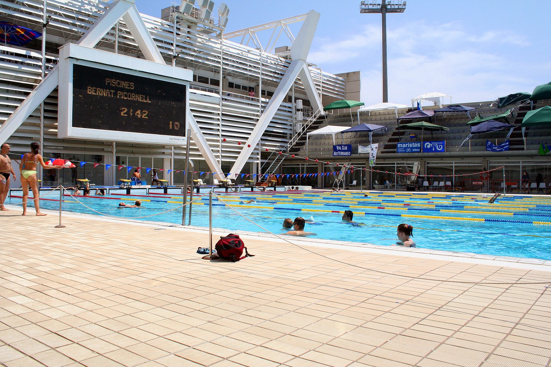 Olympic swimmingpool, barcelona, spain photo
