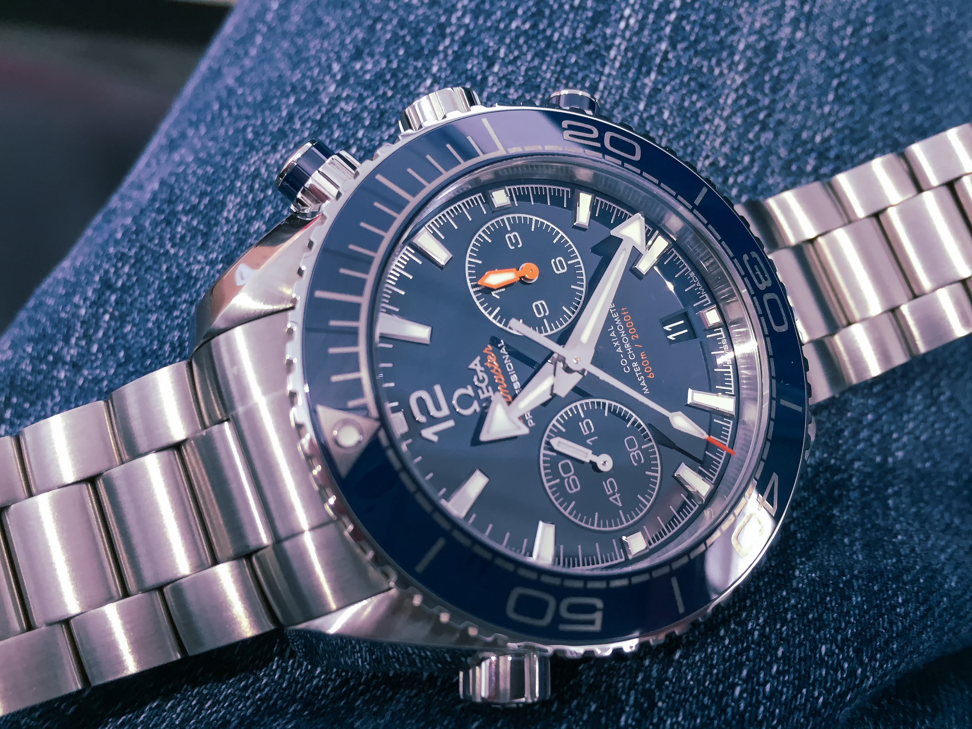 Planet Ocean 600M Omega Co‑Axial Master Chronometer Chronograph 45.5 mm, Omega Planet Ocean Co‑Axial Chronograph 45.5 mm