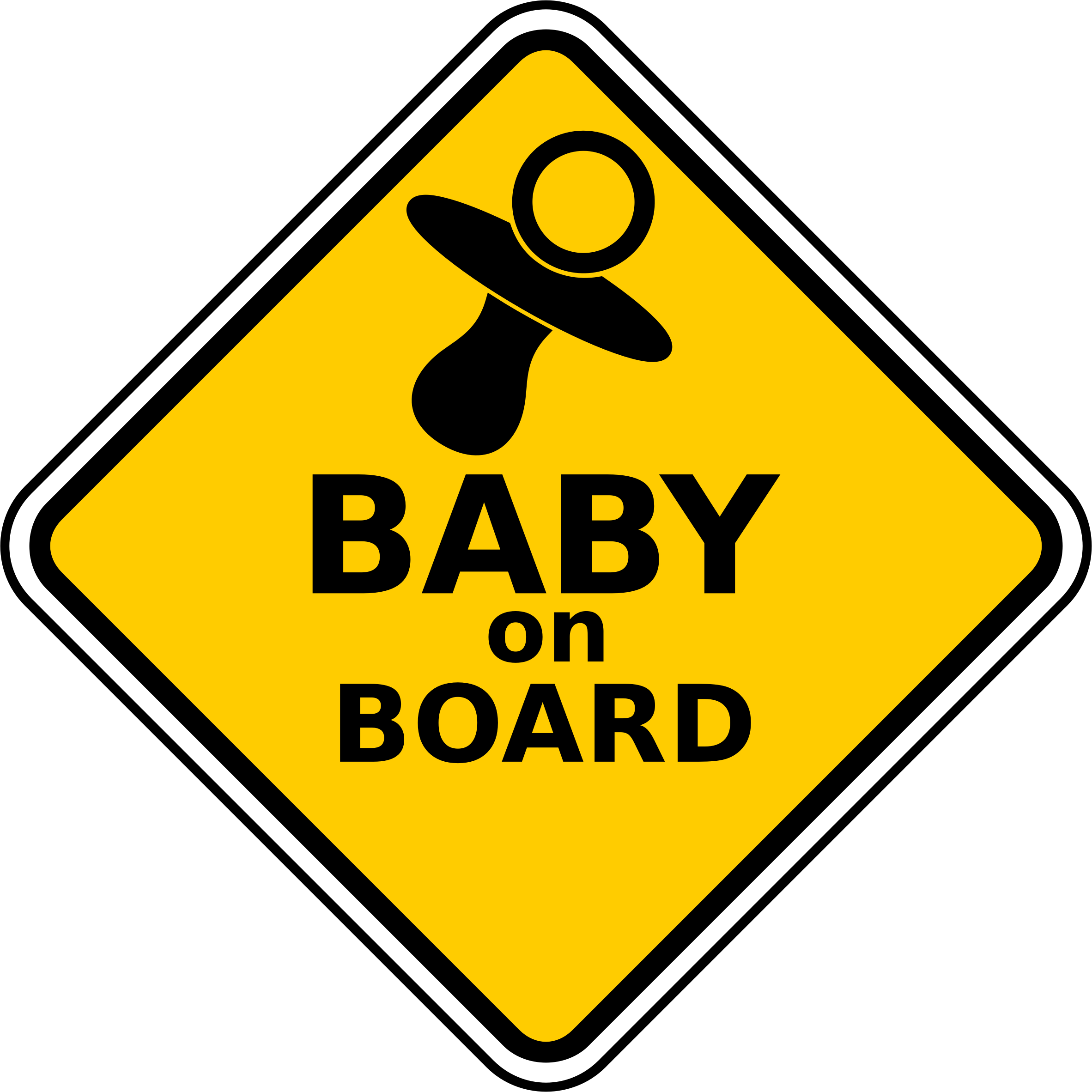 Clipart - Baby On Board