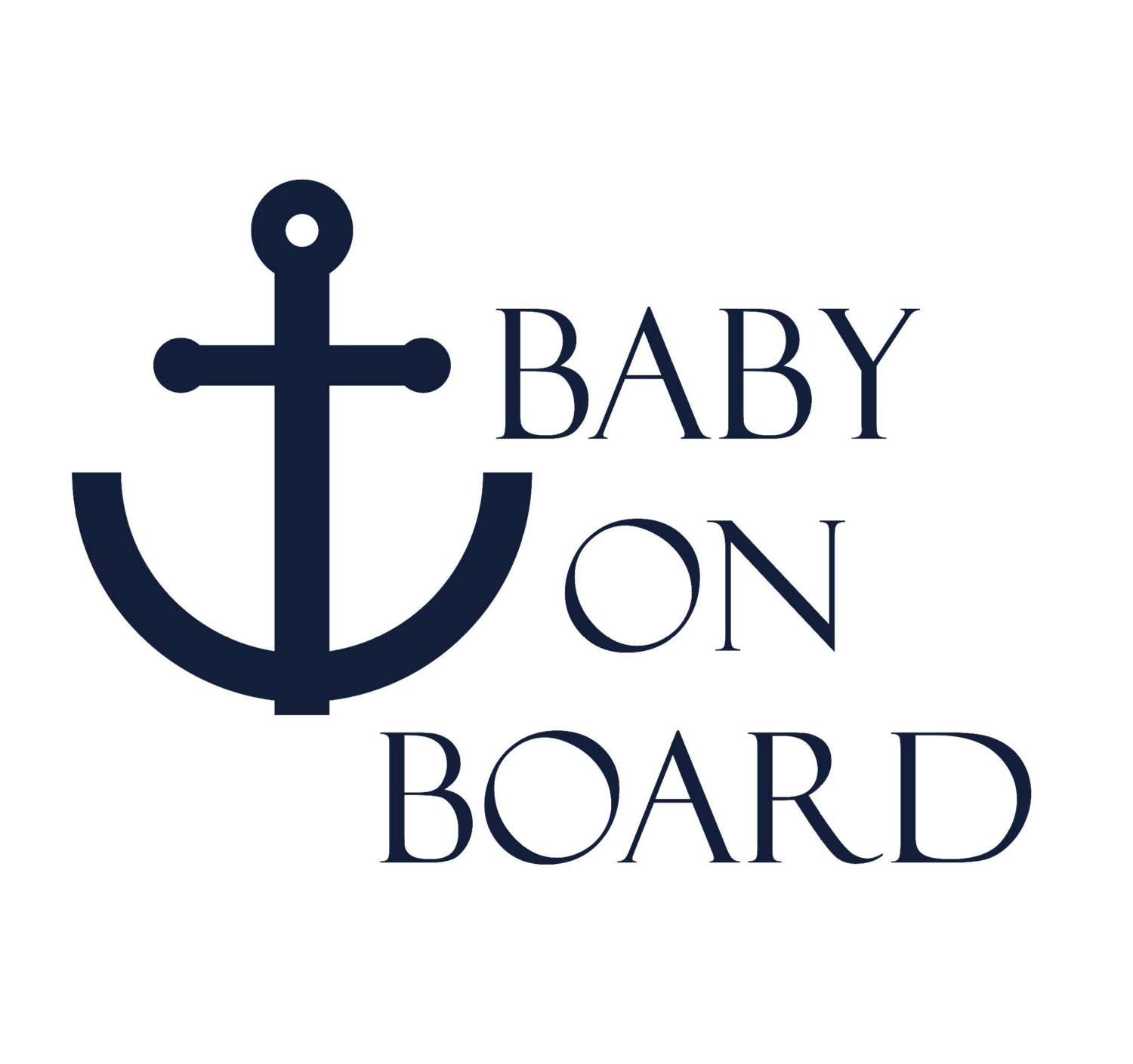 Baby on Board Car Decal / Baby on Board Decal / Nautical Baby