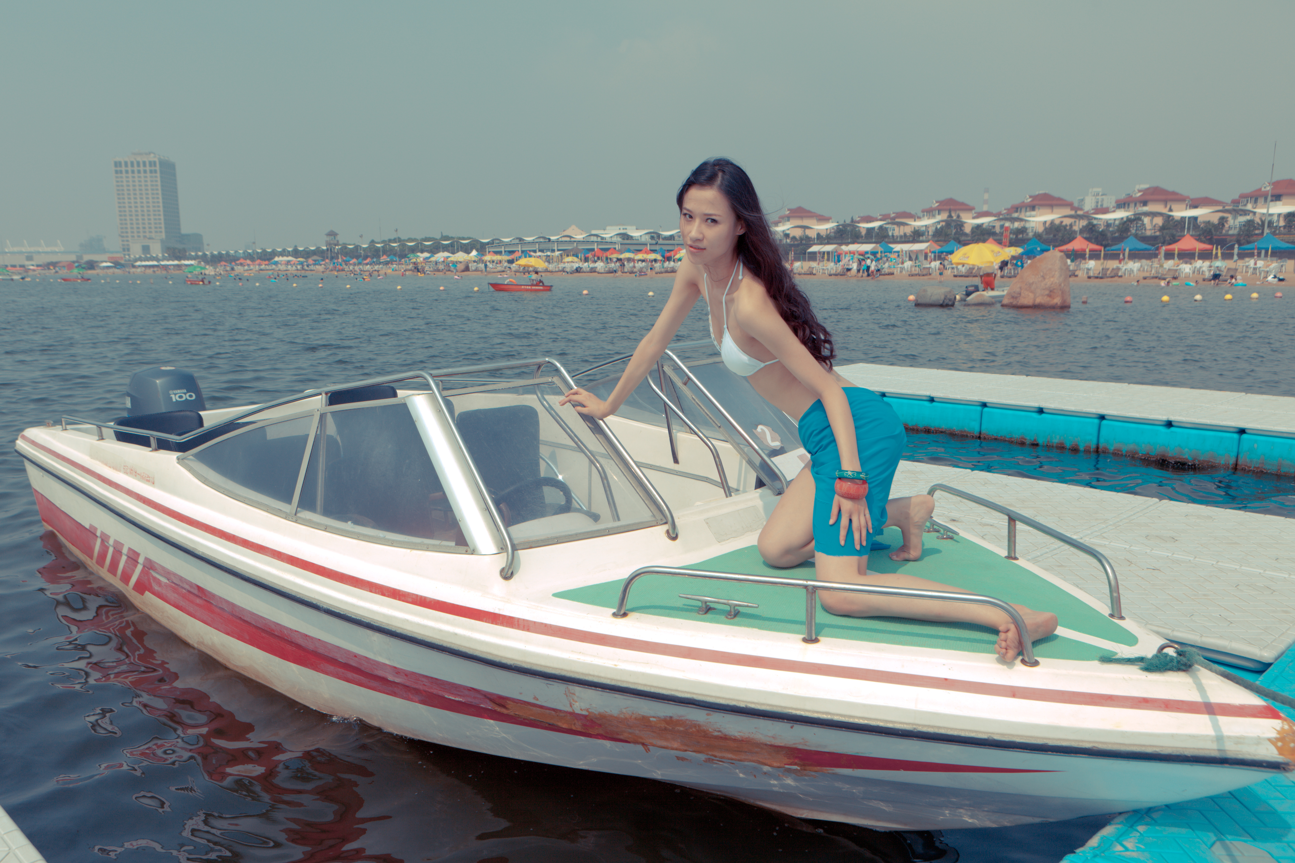 File:Tasty Chinese model on a boat at the beach. (6772360467).jpg ...