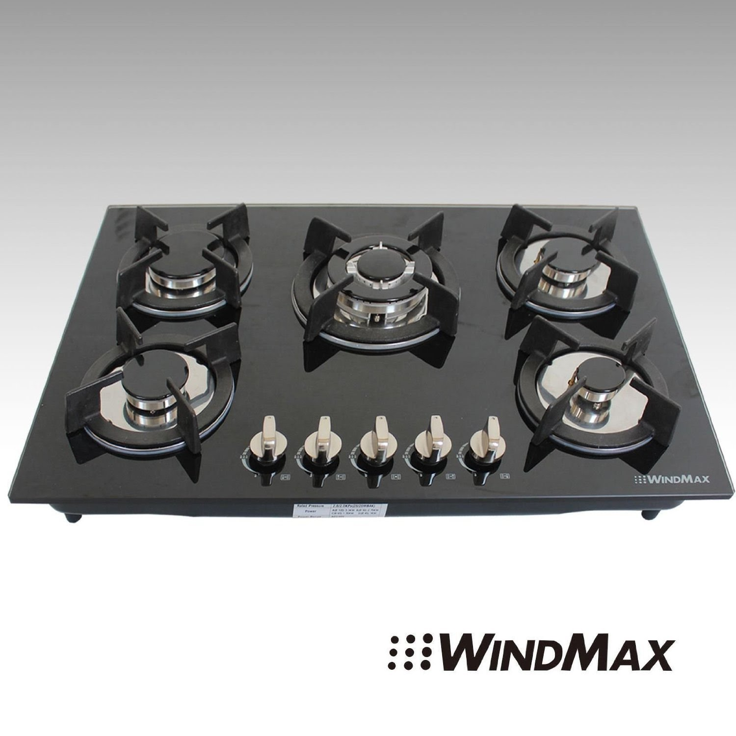Review: WINDMAX 30 Fashion Black Tempered Glass Built-in Kitchen 5 ...