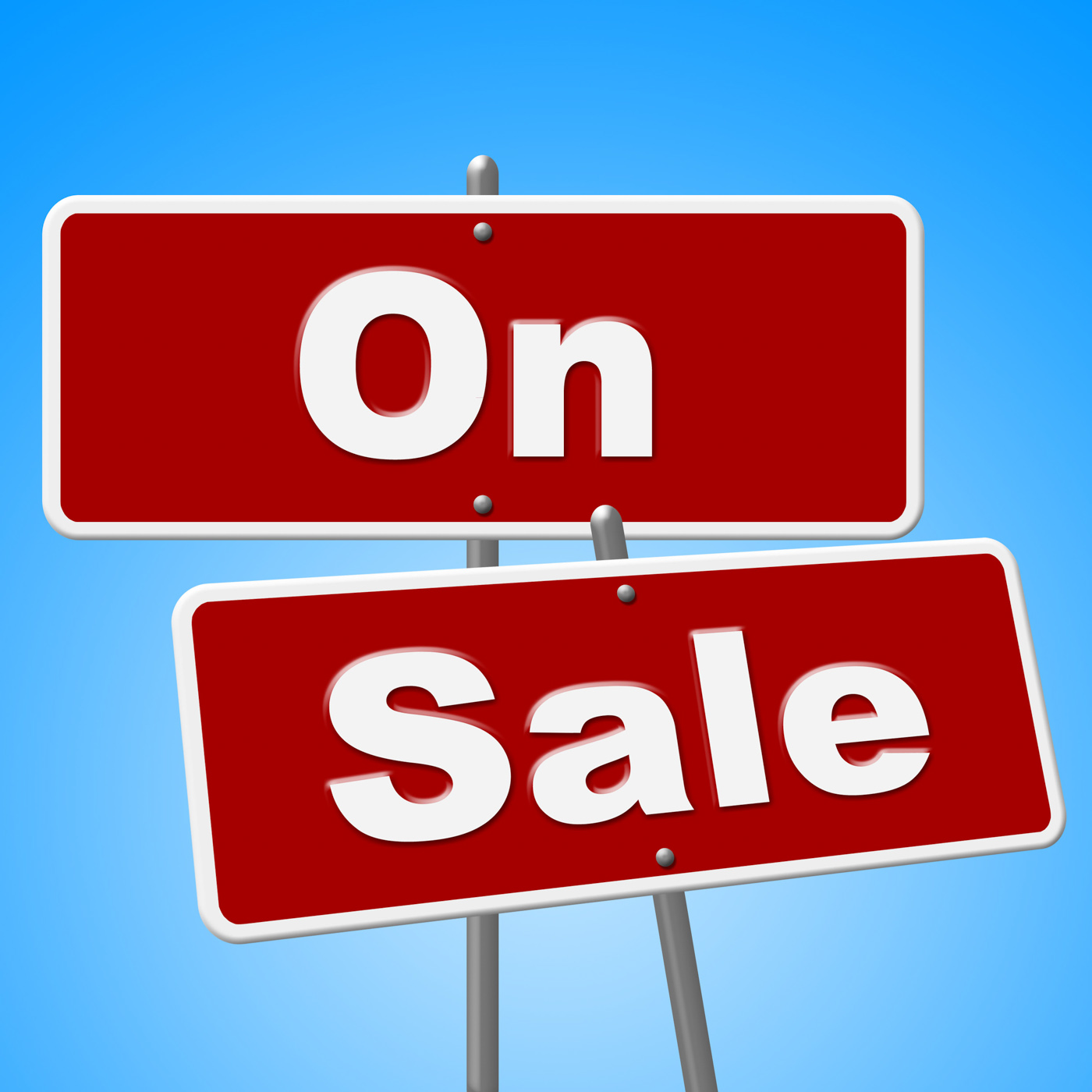 On sale signs represents discount save and merchandise photo