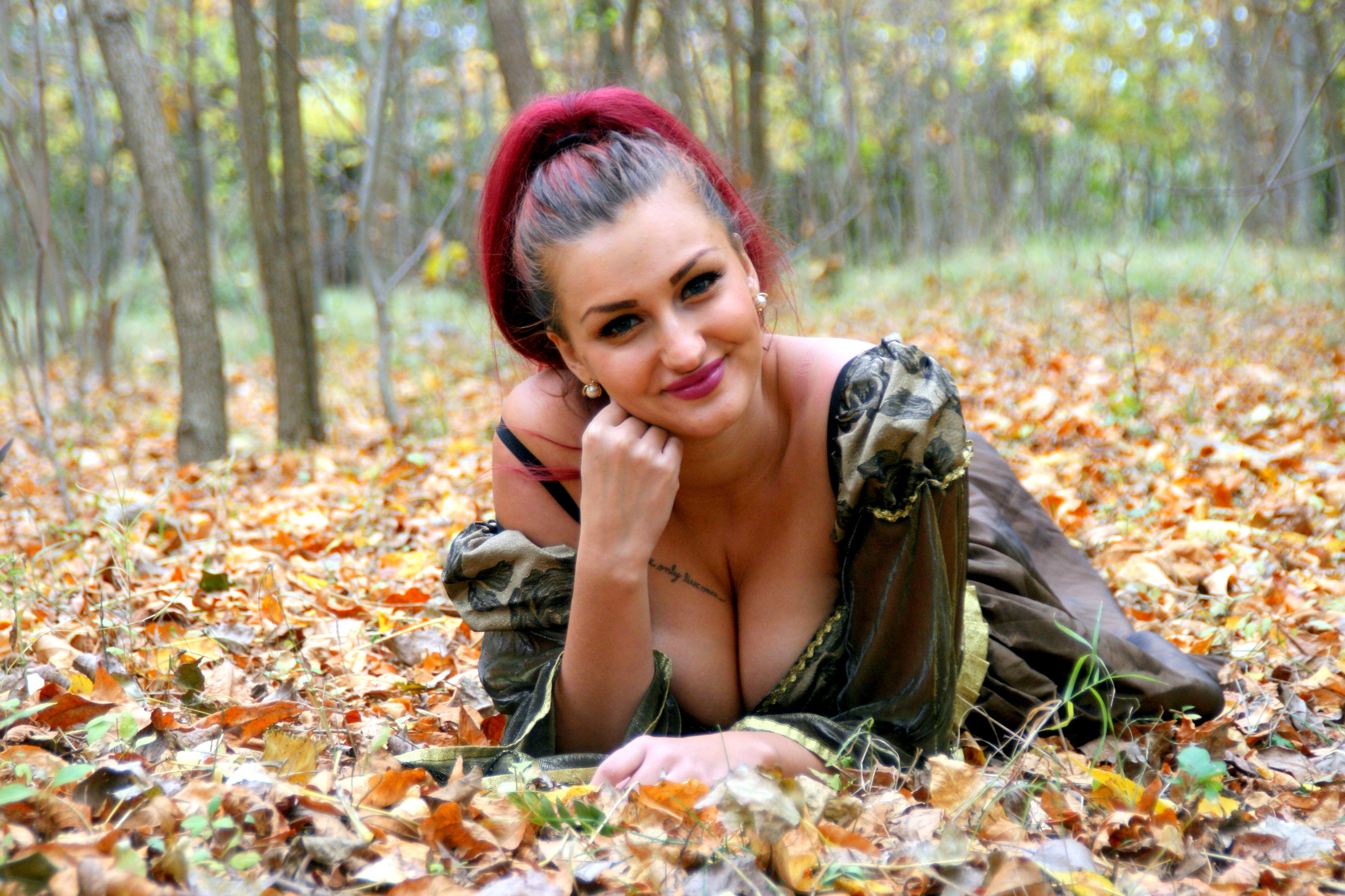 On the Ground, Smile, Smiling, Tree, Wood, HQ Photo