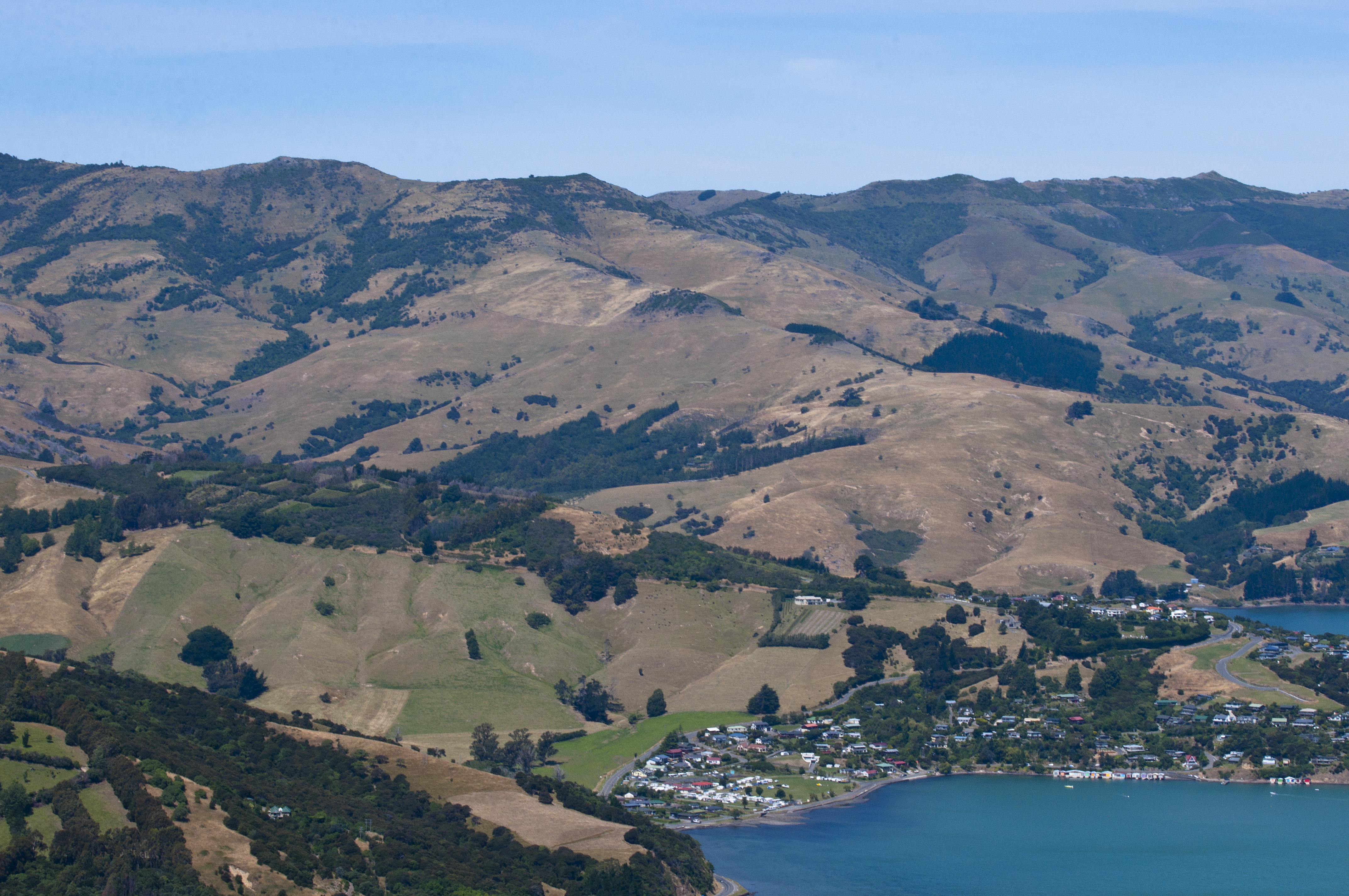 On the road to Akaroa, Aerial, Grass, Landscape, Mountain, HQ Photo