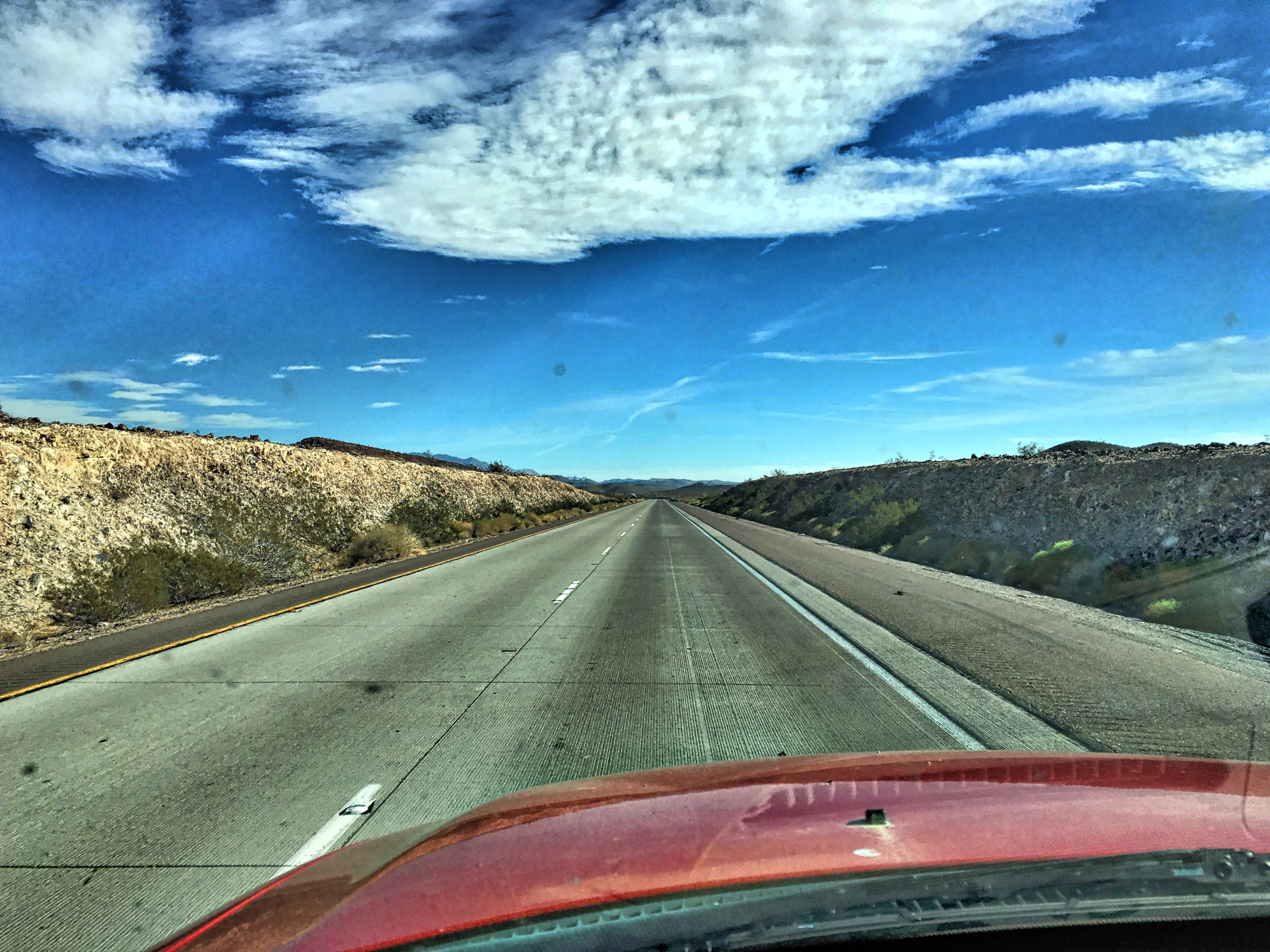 On the Wide Open Highway, Driving, Grass, Highway, Landscape, HQ Photo
