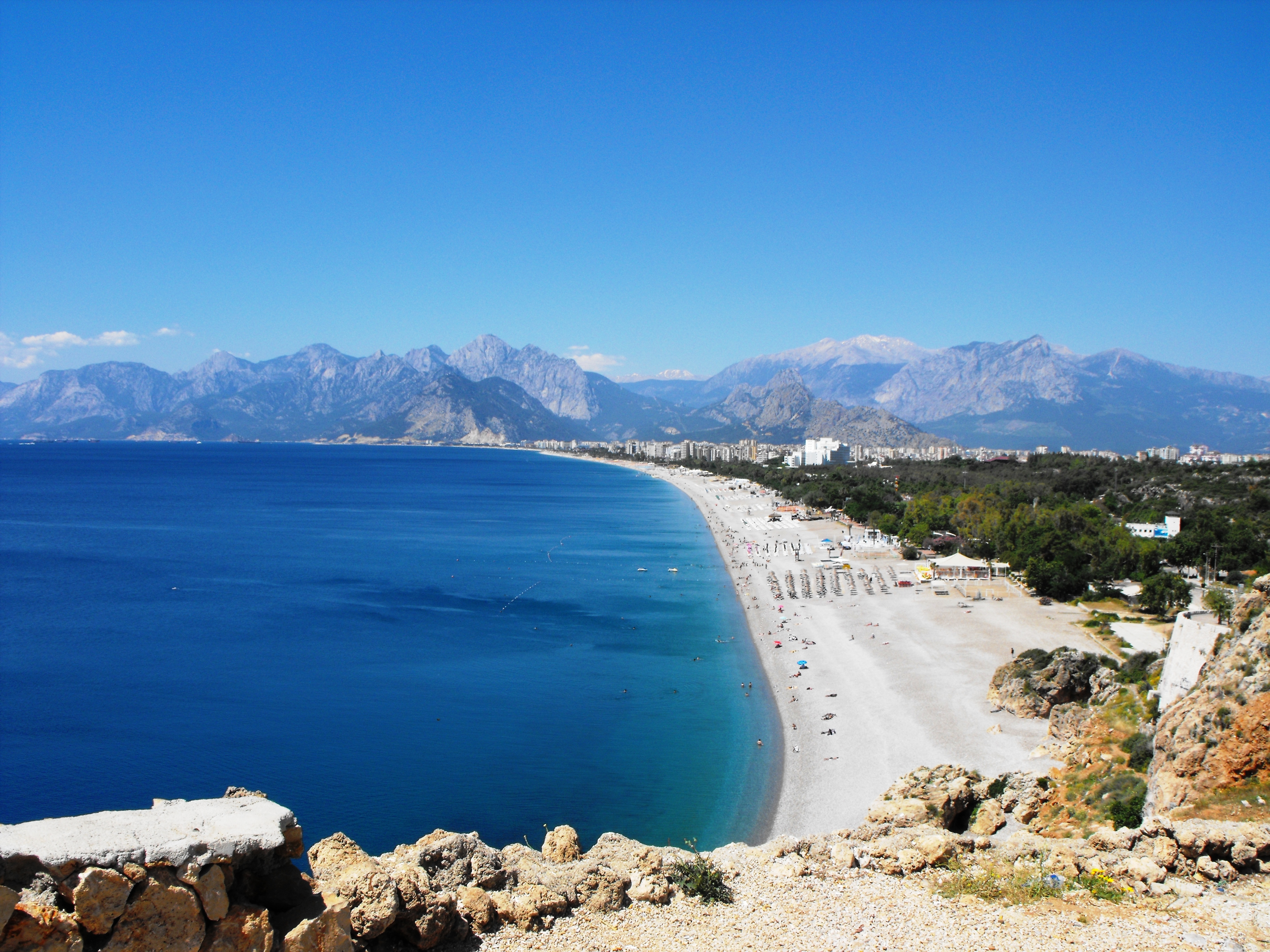 One of the great beaches of antalya photo