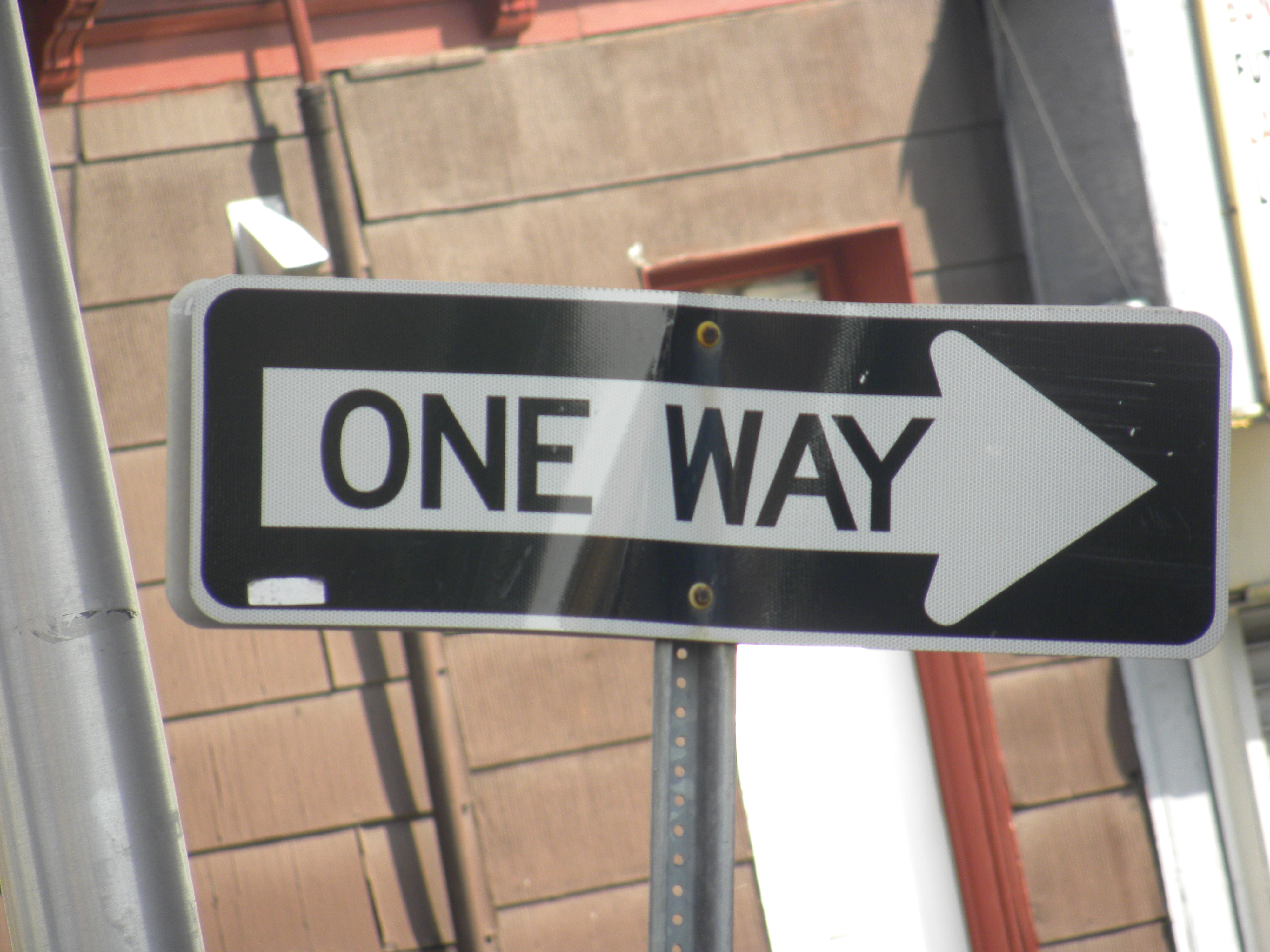 One way sign photo