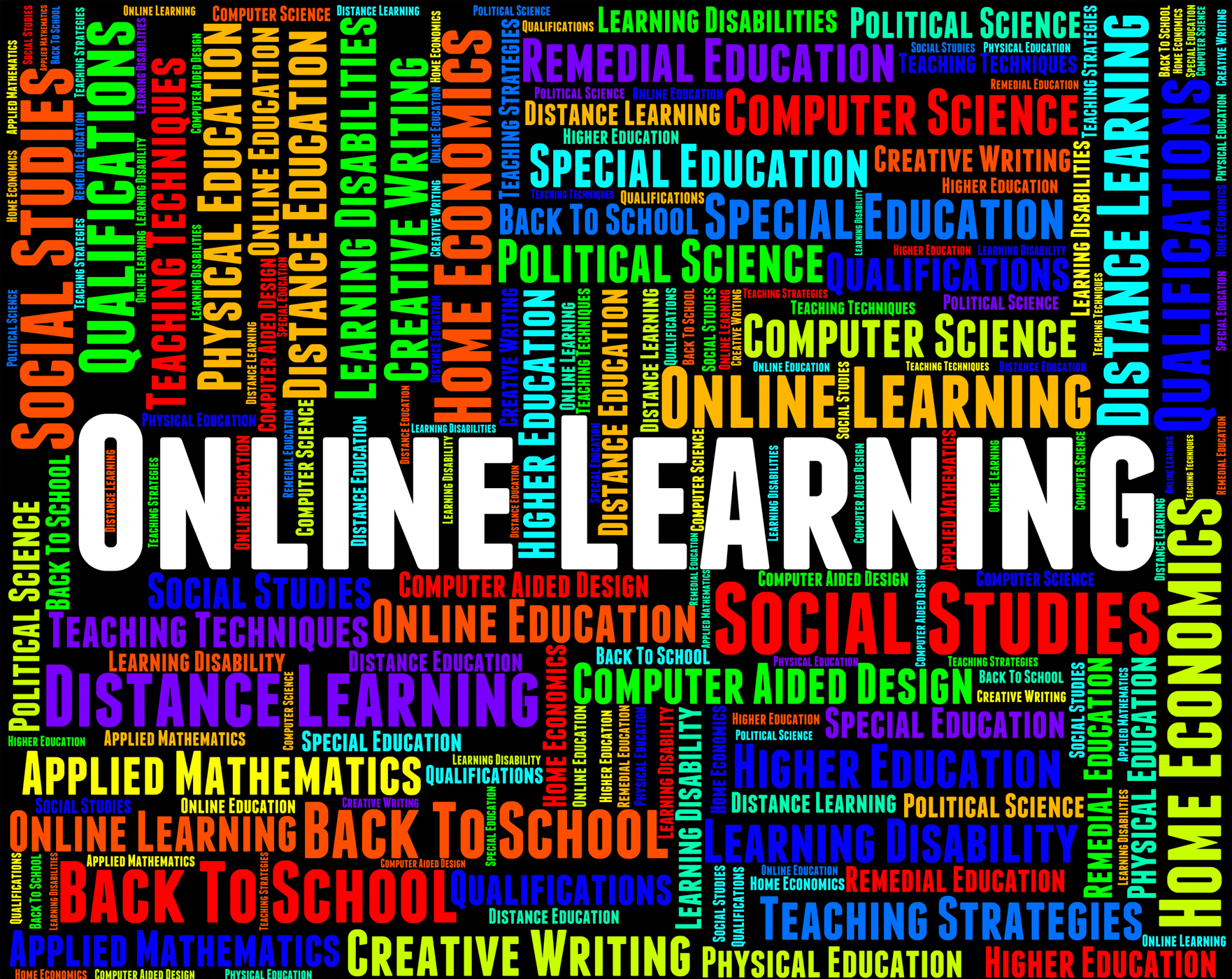 Online Learning Indicates World Wide Web And College, College, Searching, Worldwideweb, Words, HQ Photo