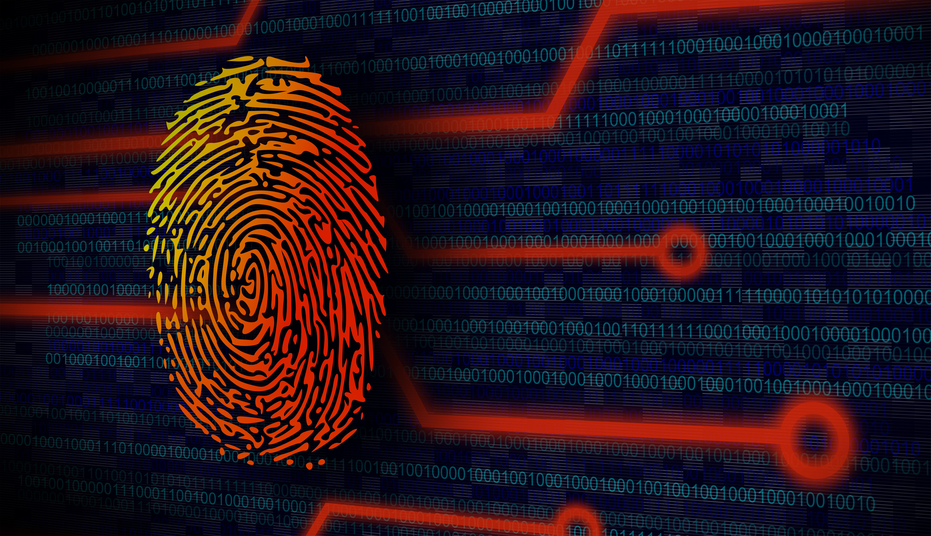 Online security concept - fingerprint photo
