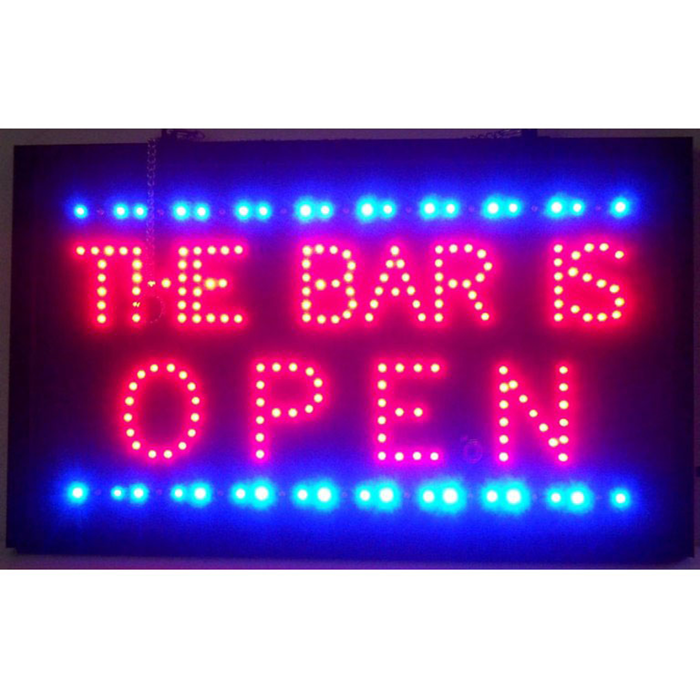 The Bar Is Open LED Sign in Neon Signs