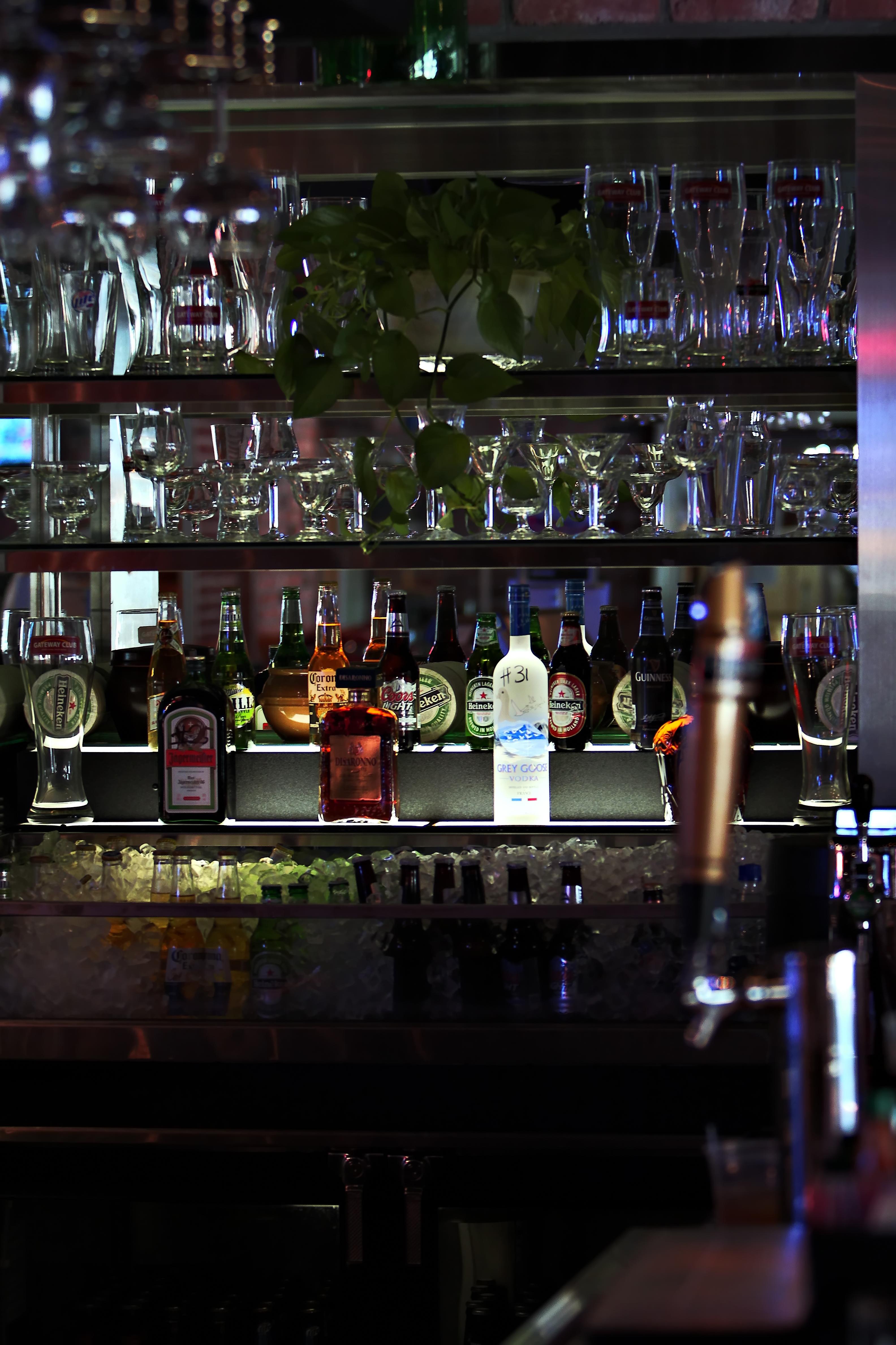 Open Bar, Alcohol, Bar, Beer, Glasses, HQ Photo