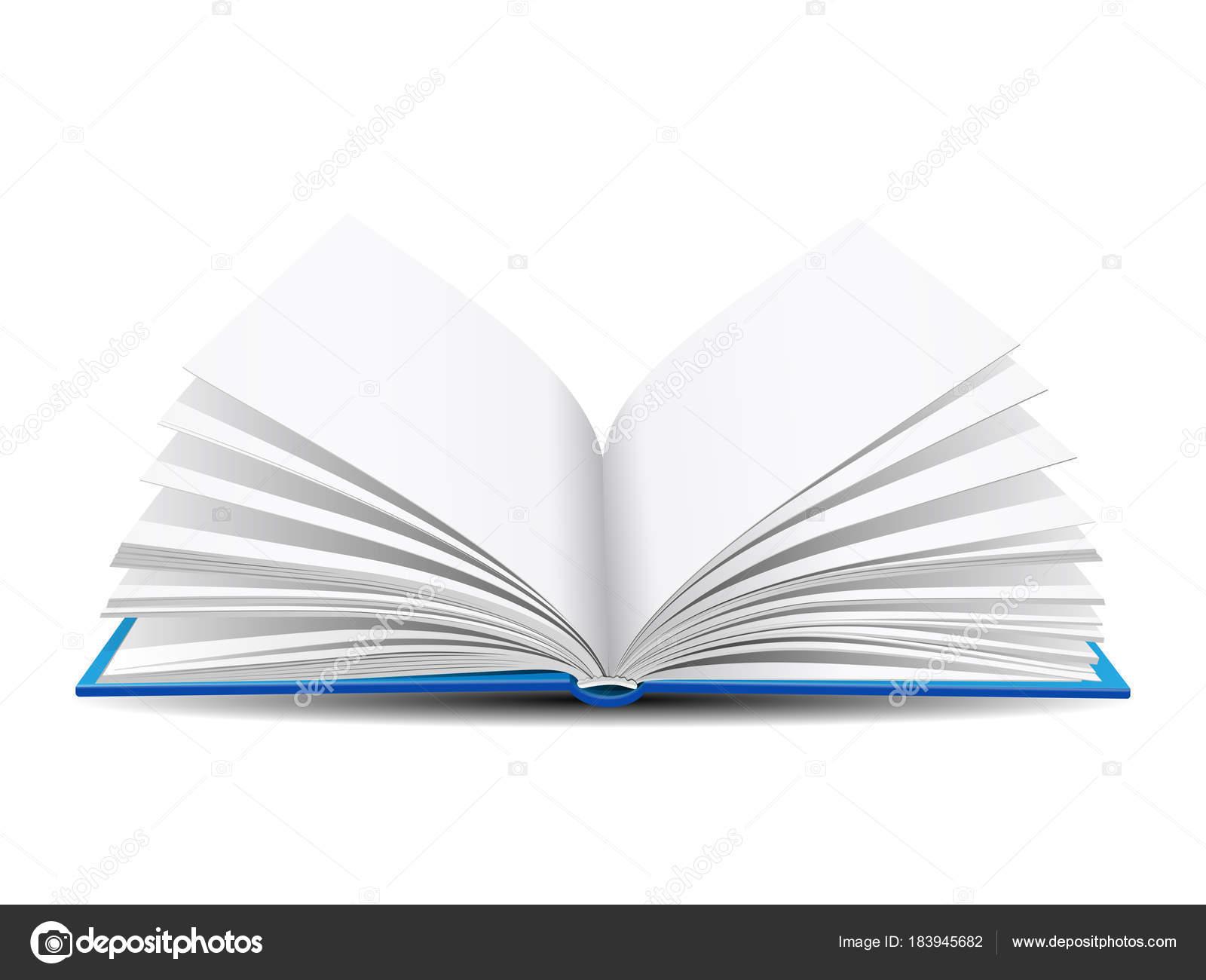 open book on white background — Stock Vector © tassel #183945682