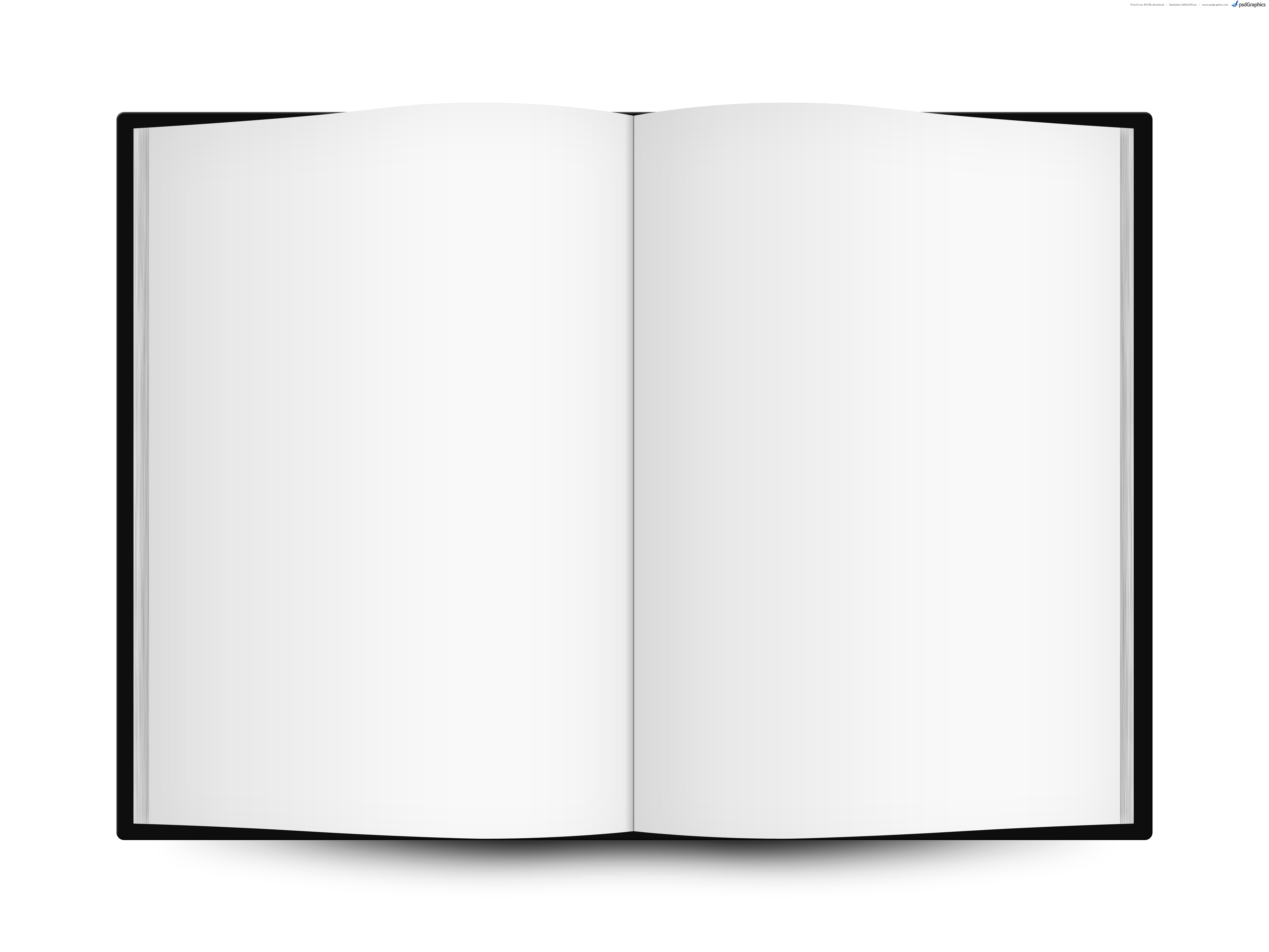 Blank open book template | PSDGraphics