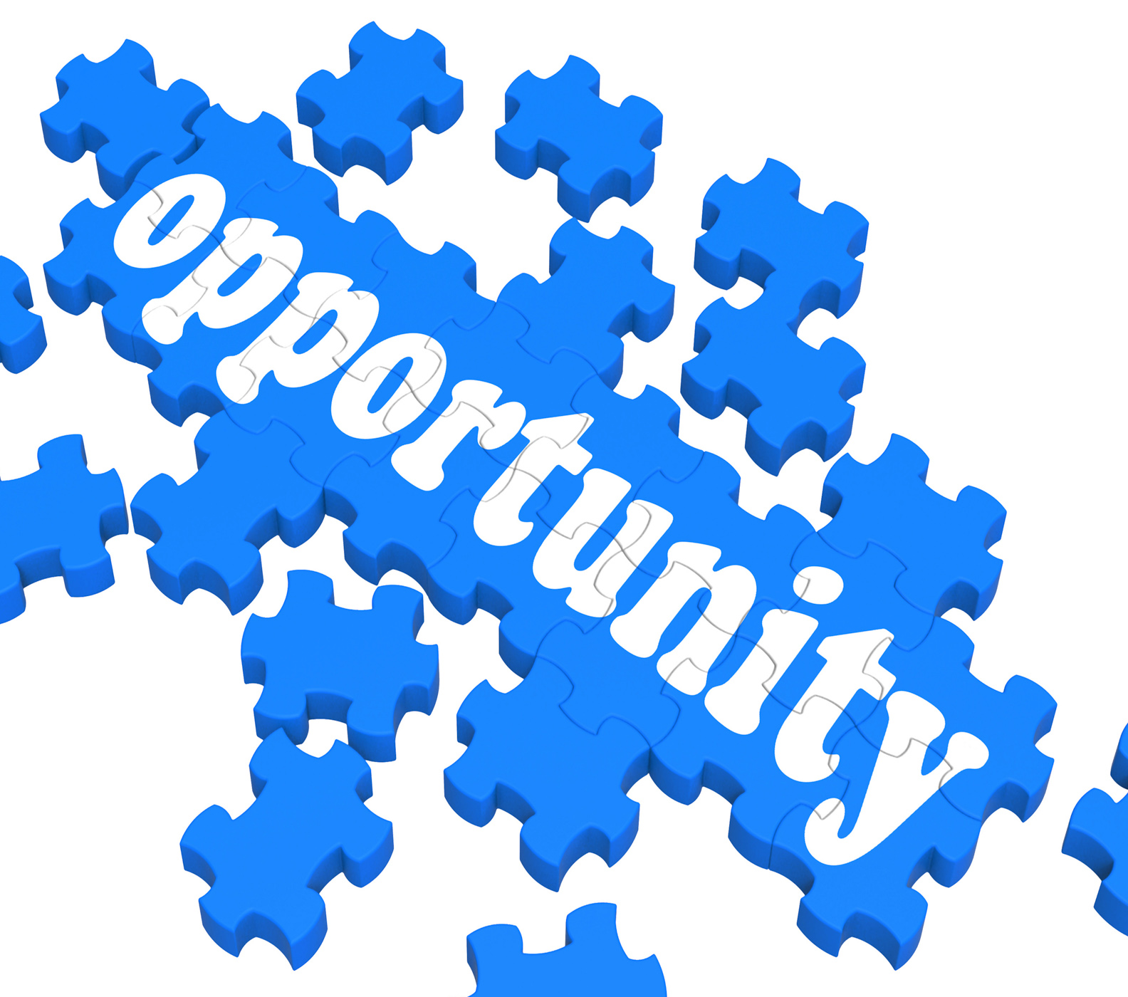 Opportunity puzzle shows career chances photo