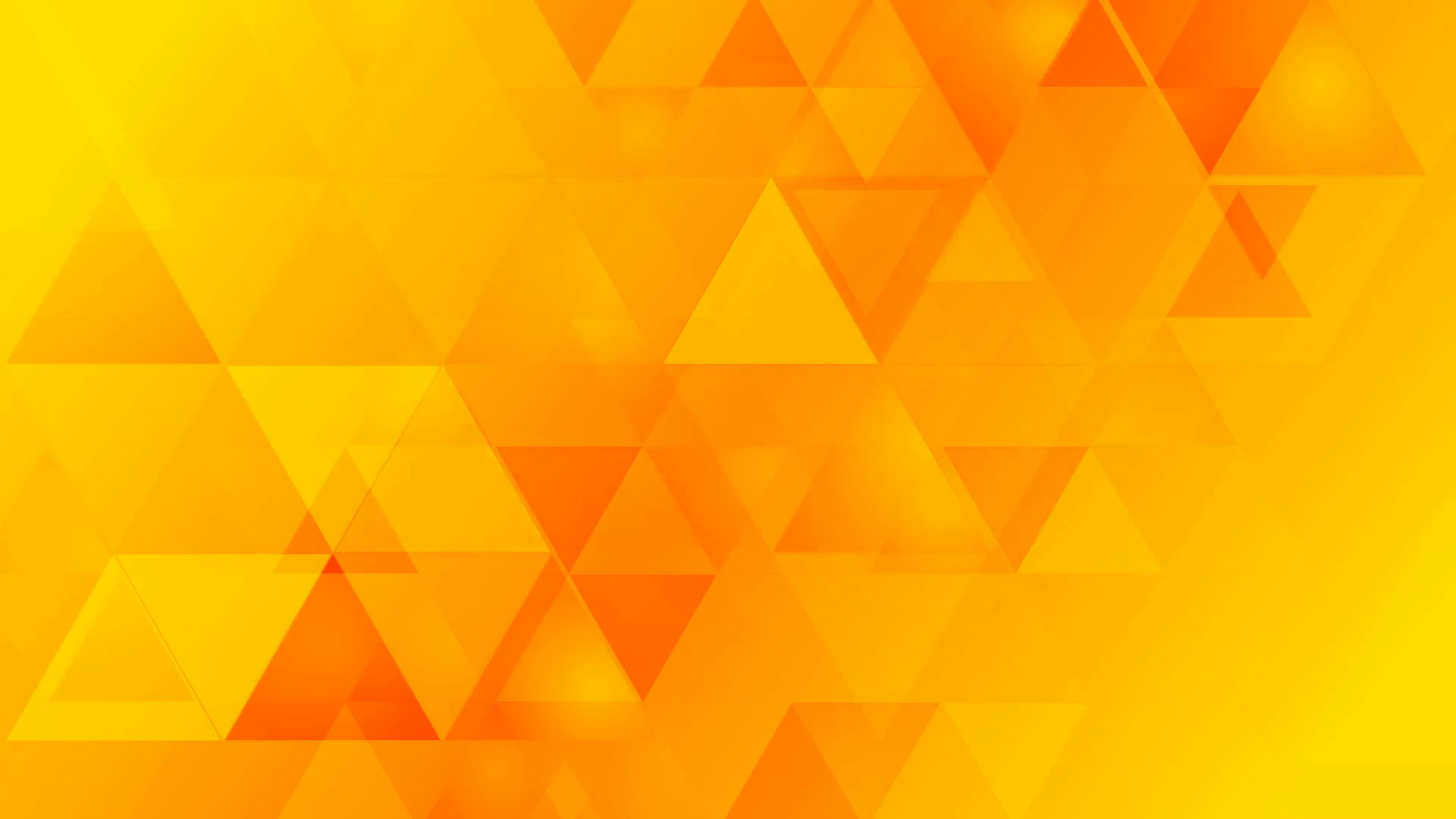 Bright orange geometric tech background with triangles. Video ...