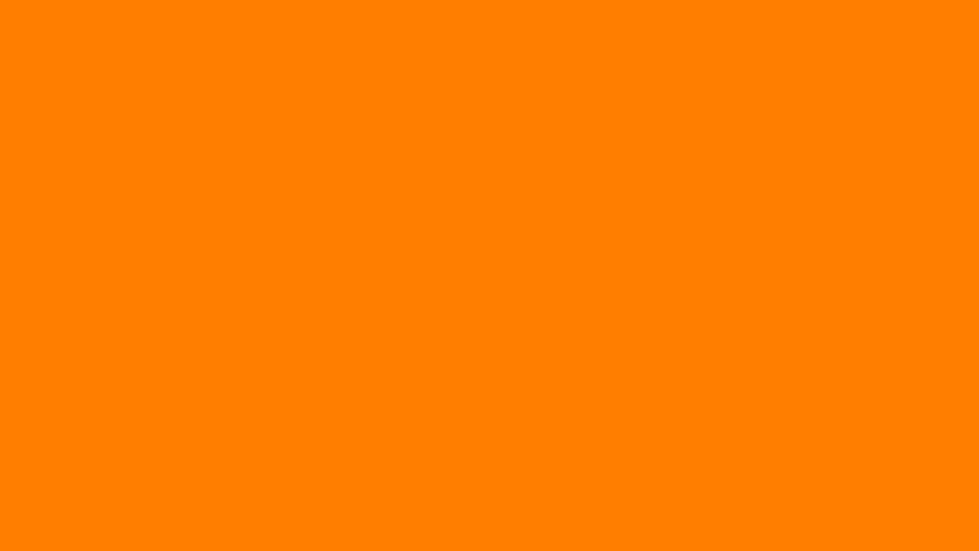 1920x1080 Amber Orange Solid Color Background