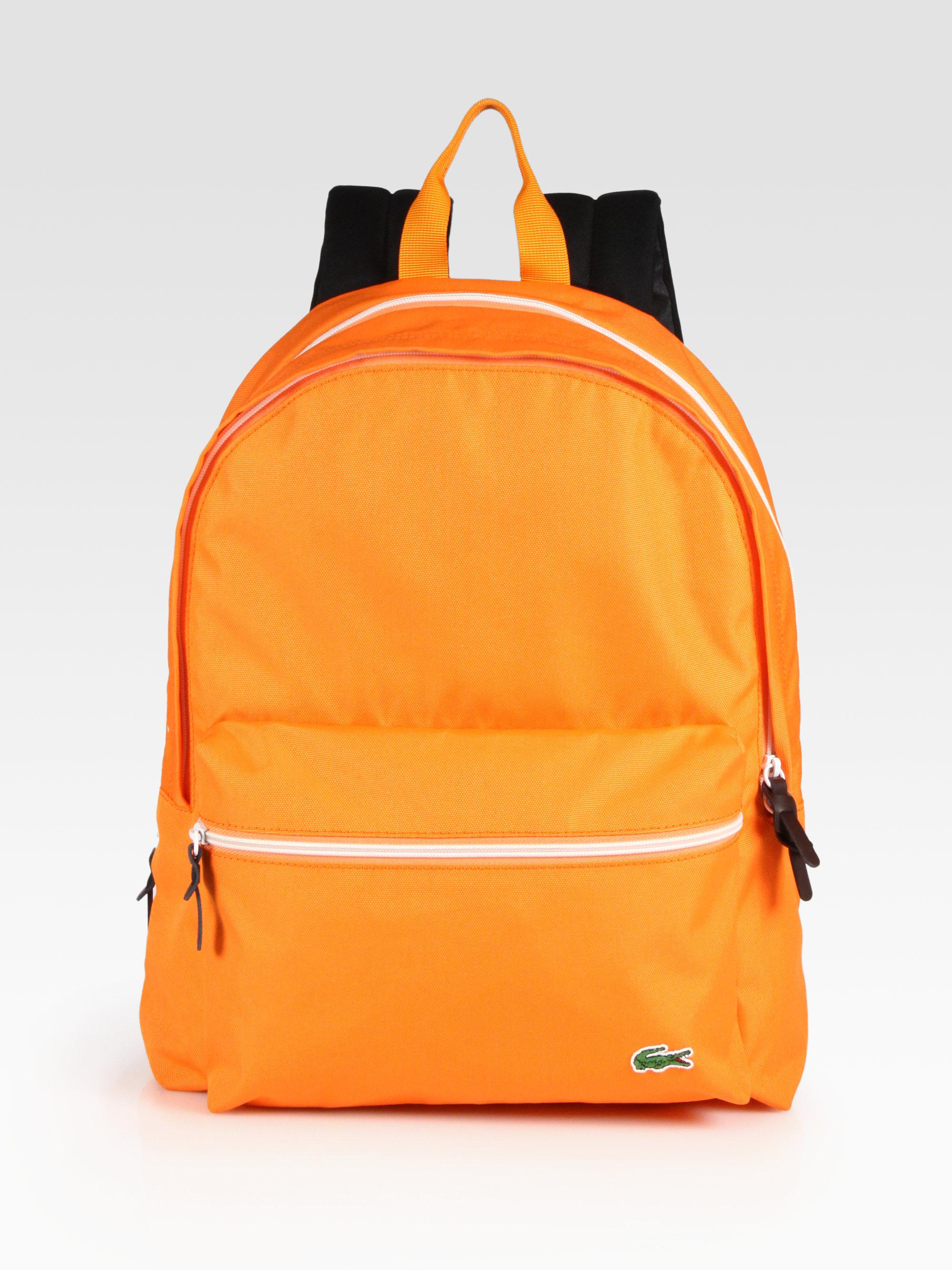 Lyst - Lacoste Backcroc Medium Backpack in Orange for Men