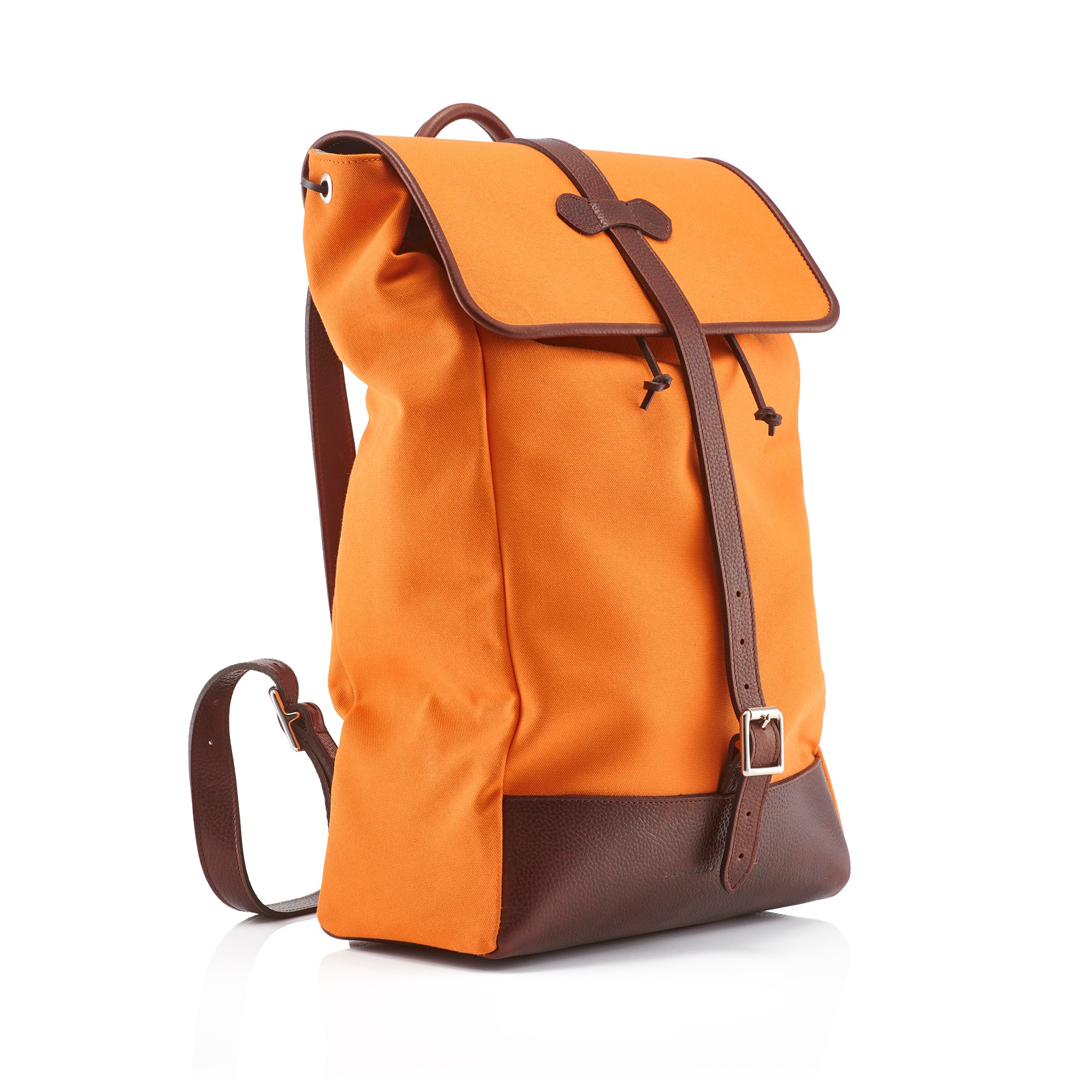 Orange backpack photo
