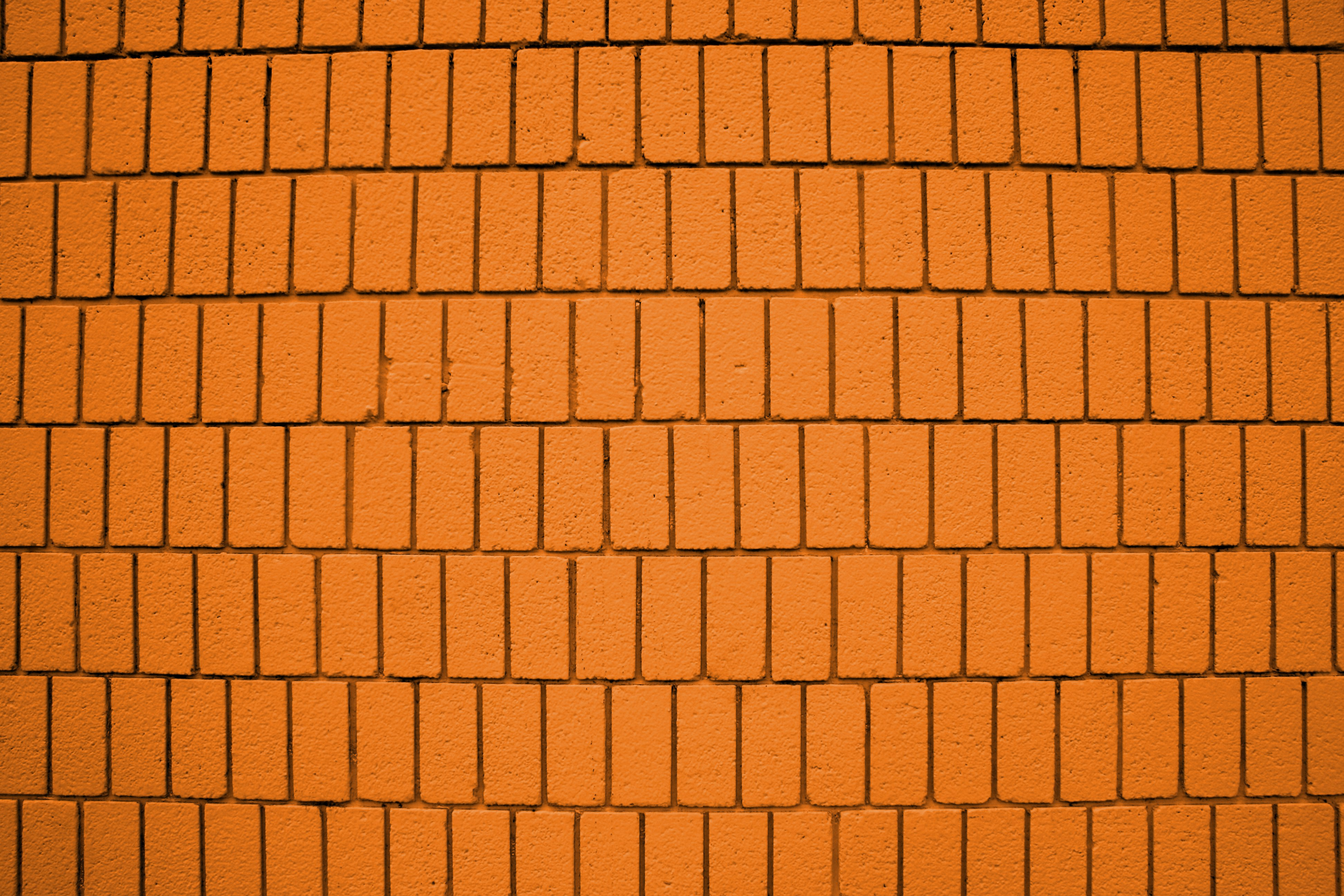 Bright Orange Brick Wall Texture with Vertical Bricks Picture | Free ...