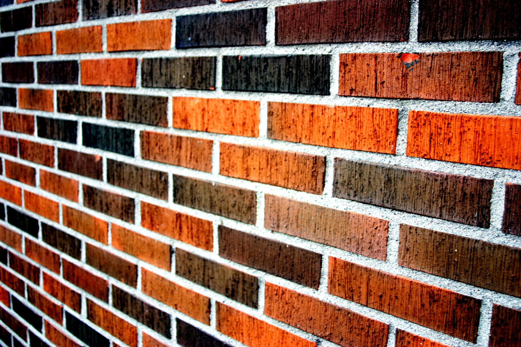 Orange brick wall, Brick, Brown, Orange, Texture, HQ Photo