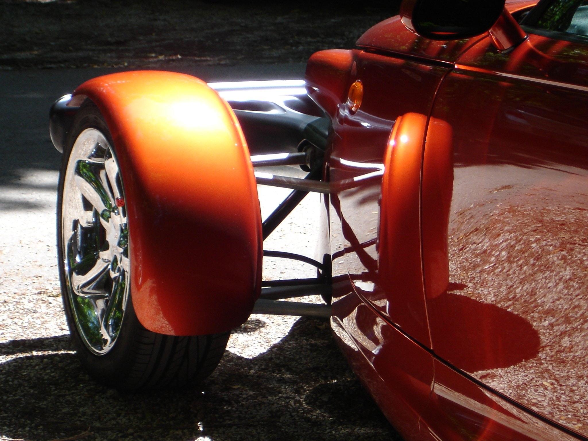 Orange Classic Car, Auto, Reflection, Vintage, Vehicle, HQ Photo