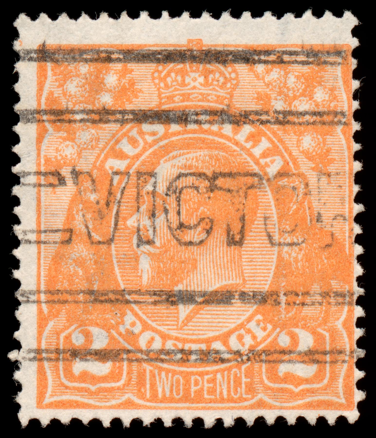 Orange king george v stamp photo