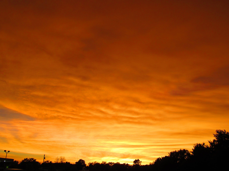 Orange Sky After Severe Thunderstorm - YouTube