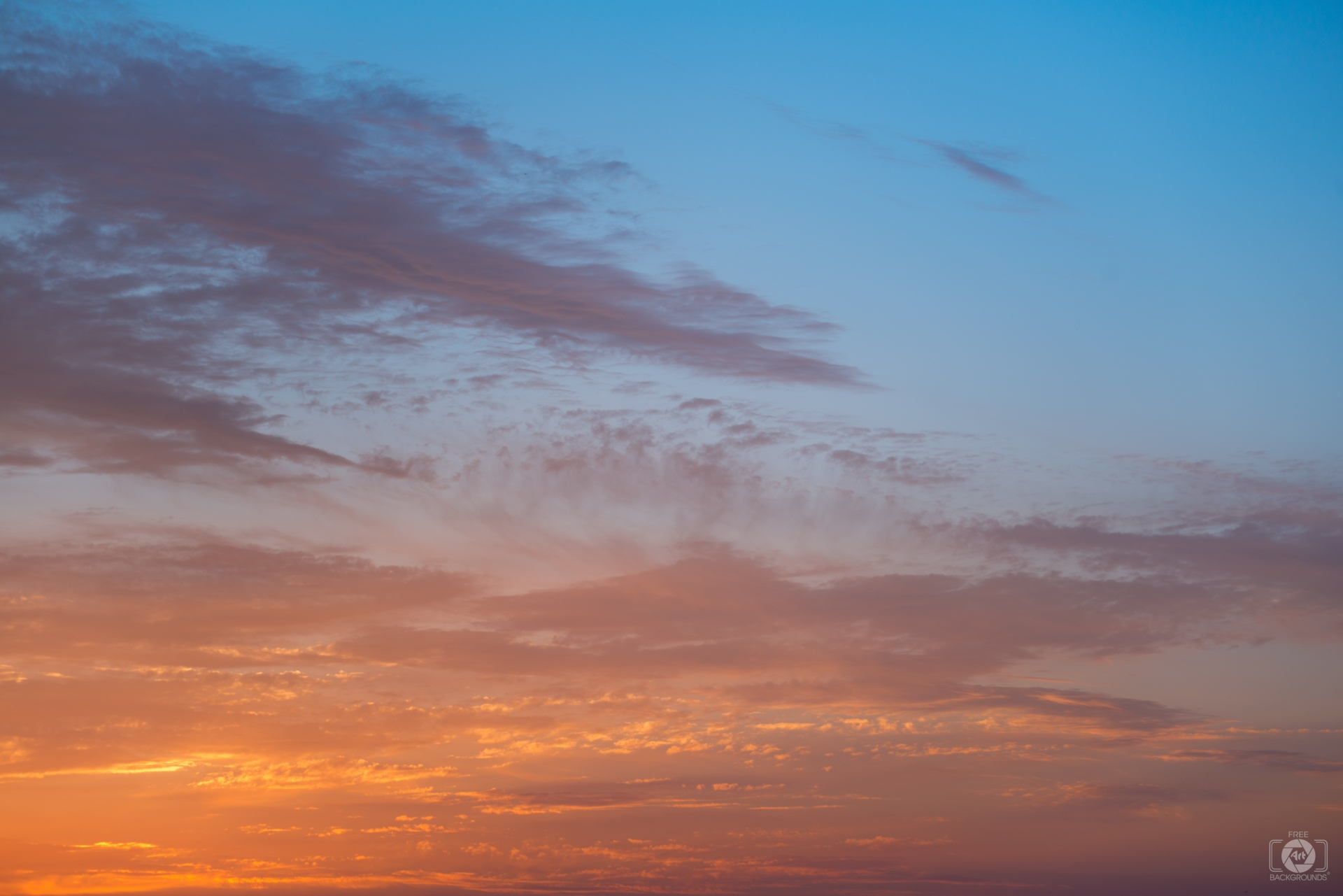 Blue Orange Sky Background - High-quality Free Backgrounds
