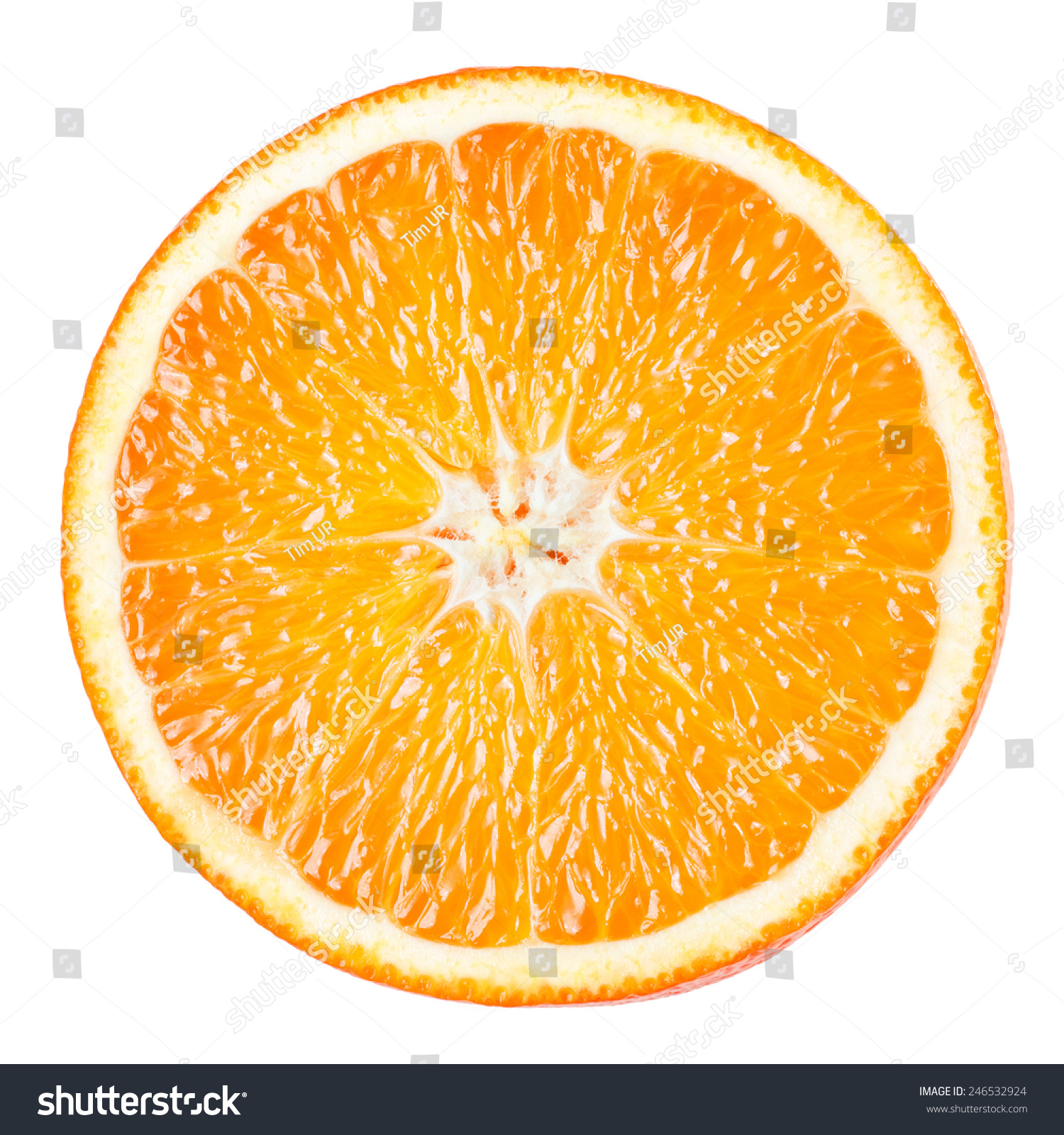 Orange Slice Isolated On White Background Stock Photo 246532924 ...