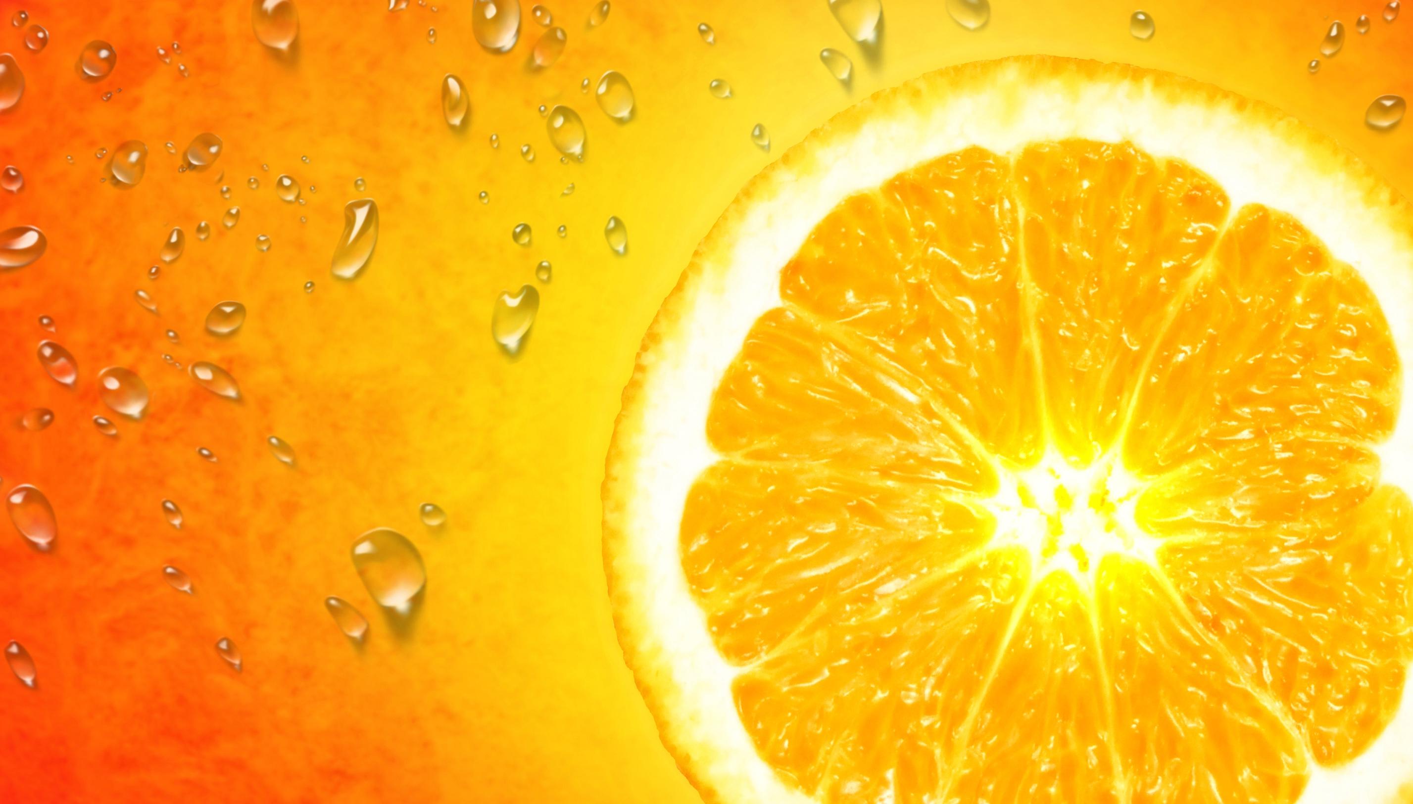 Orange Slice on Orange Background, Agriculture, One, Orange, Orangecloseup, HQ Photo