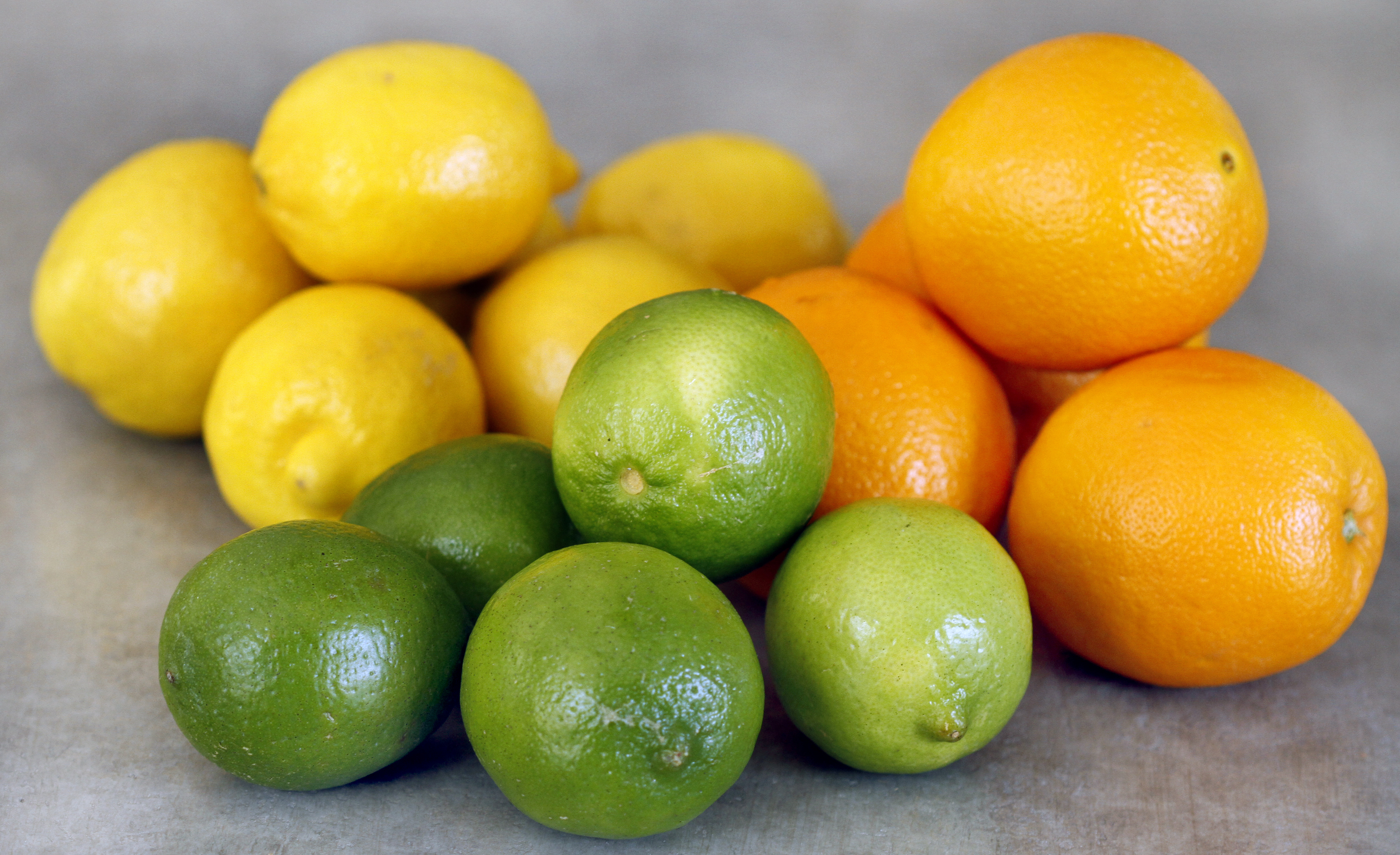 Oranges and lime photo