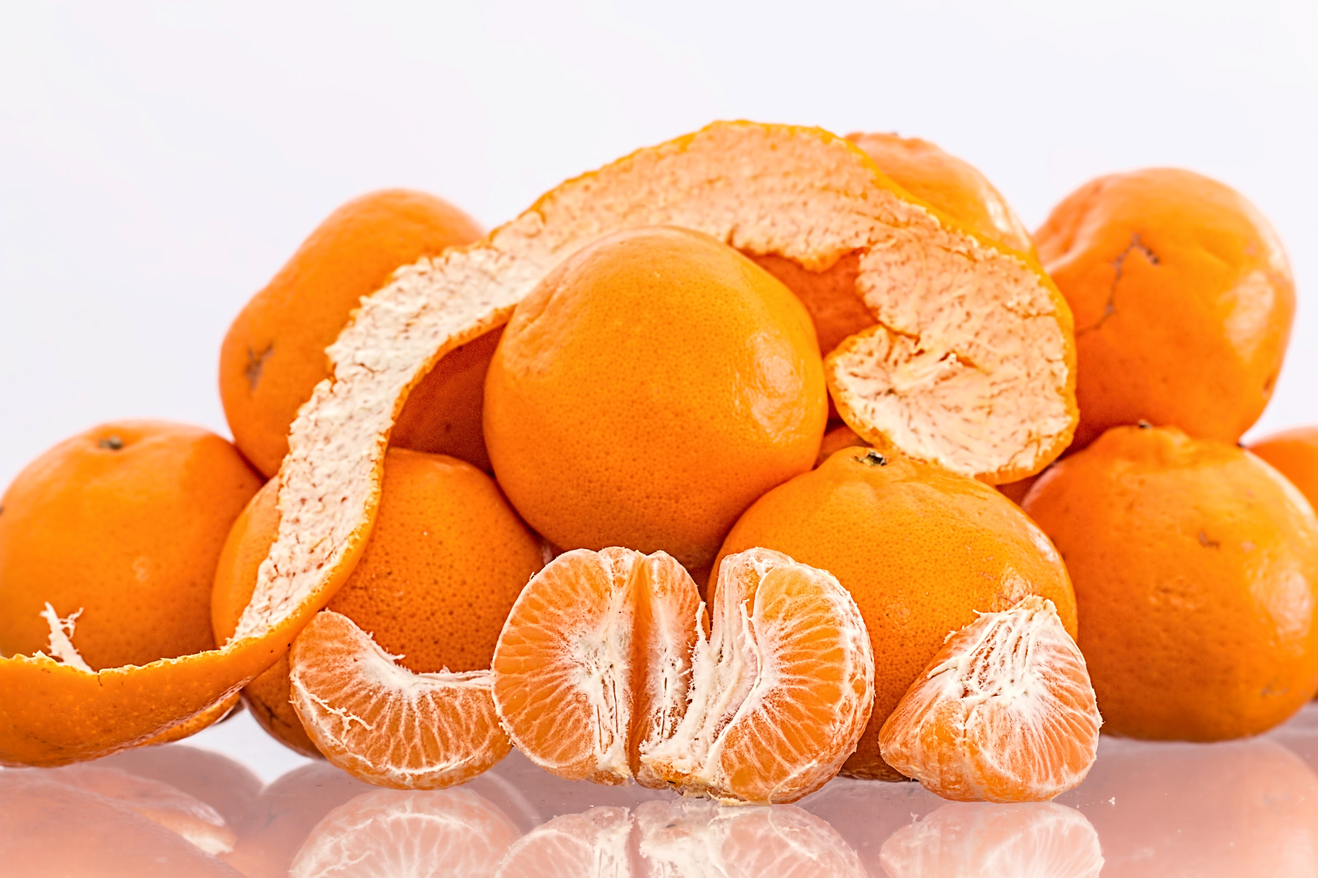 Oranges on Clear Table, Citrus, Delicious, Food, Fruit, HQ Photo