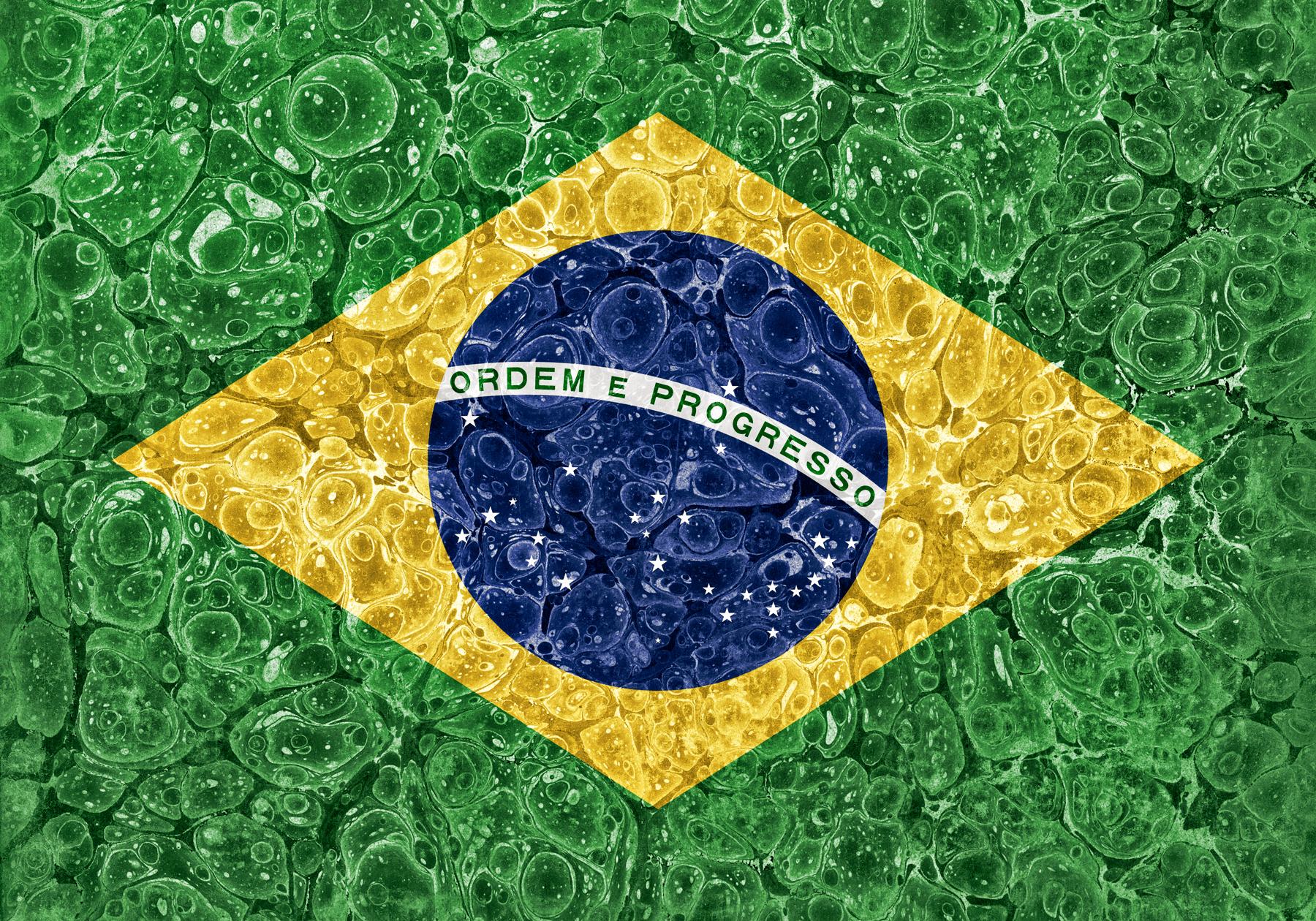 Organic grunge flag - brazil photo