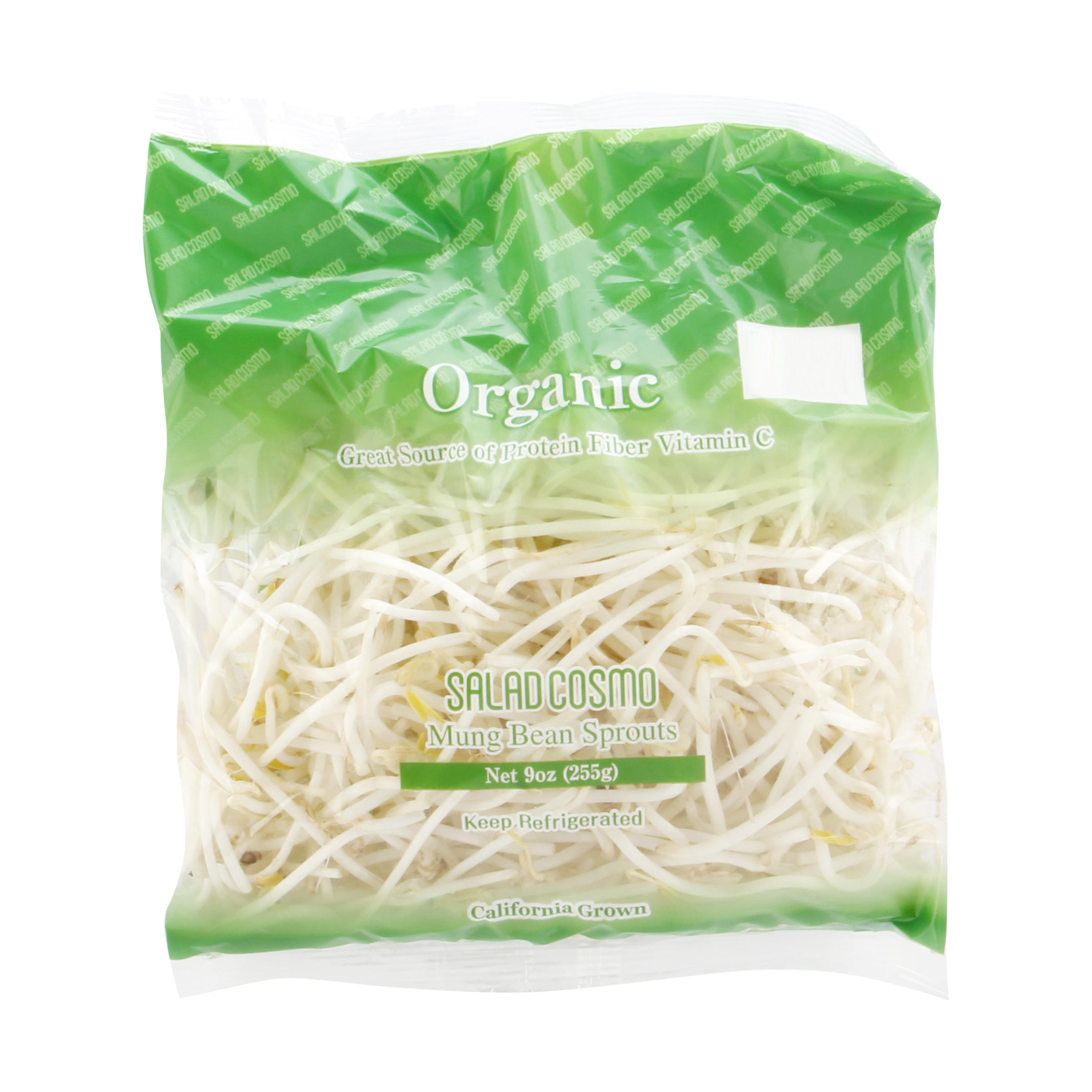 Salad Cosmo Organic Mung Bean Sprouts   365
