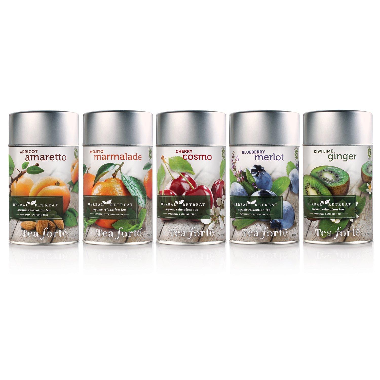 Amazon.com : Tea Forte Herbal Retreat CHERRY COSMO Loose Leaf ...