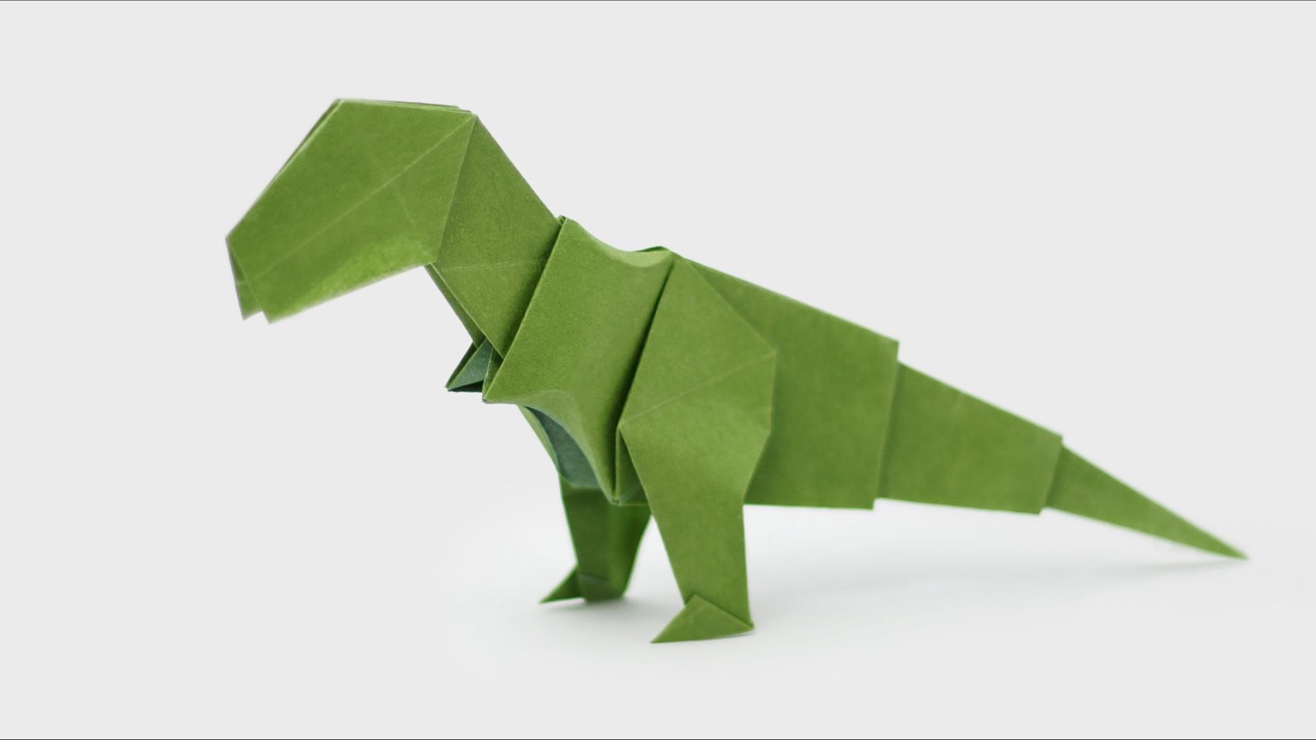 Origami T-Rex - Video and Diagrams - Jo Nakashima