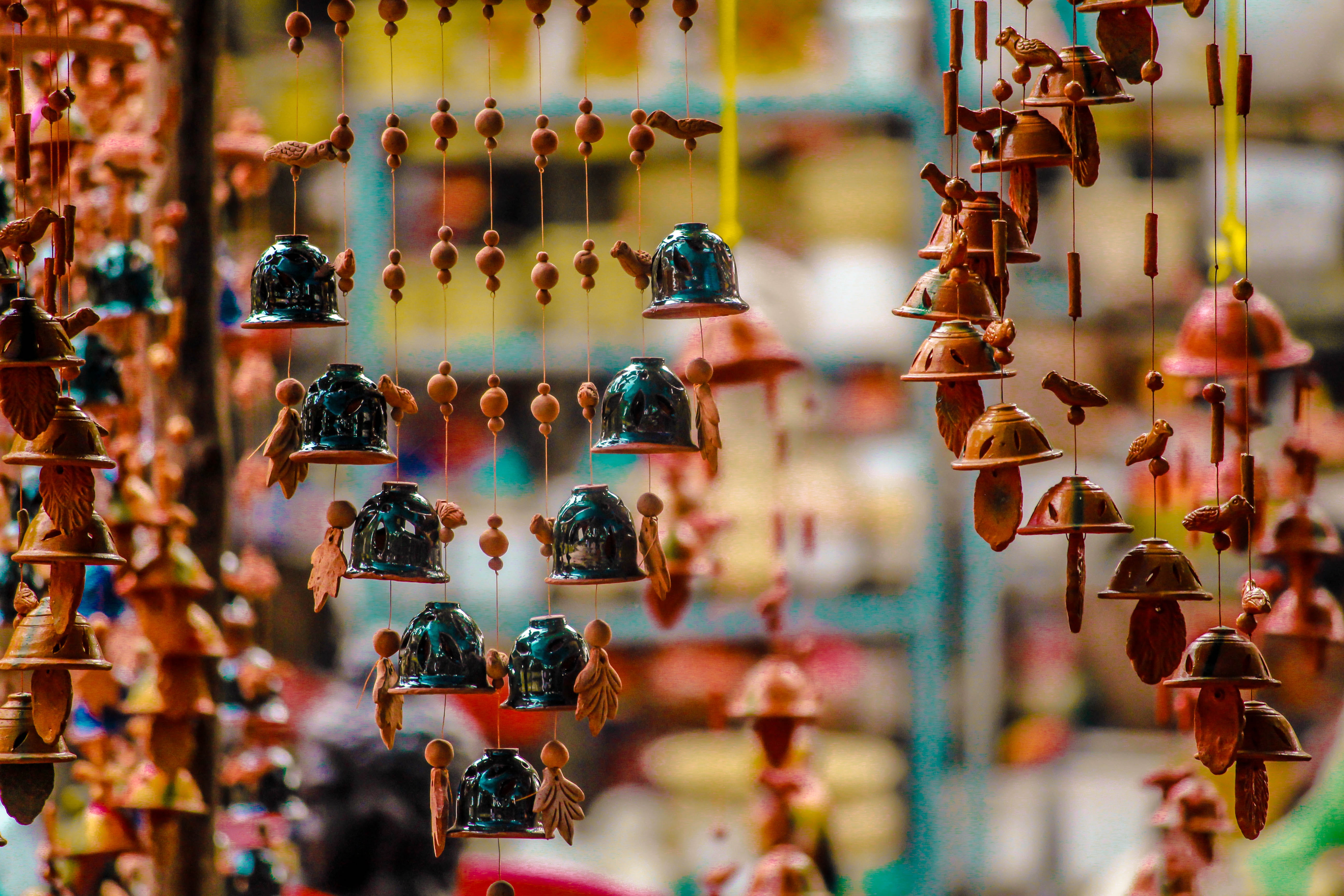 Ornaments Hanging for Sale in Market, Art, Decorative, Travel, Transaction, HQ Photo