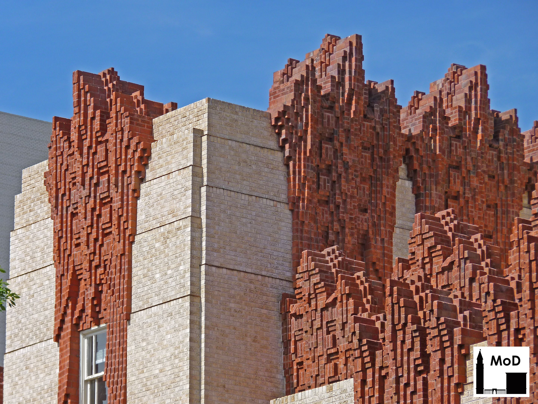 Ornate polychrome brick at the Mullen Building, St. Joseph Hospital ...