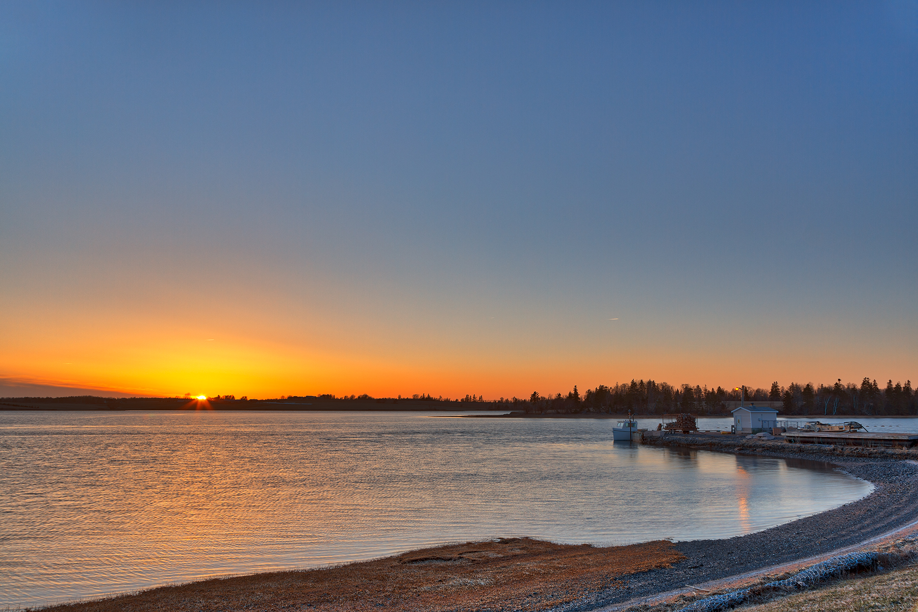Orwell river sunset - hdr photo