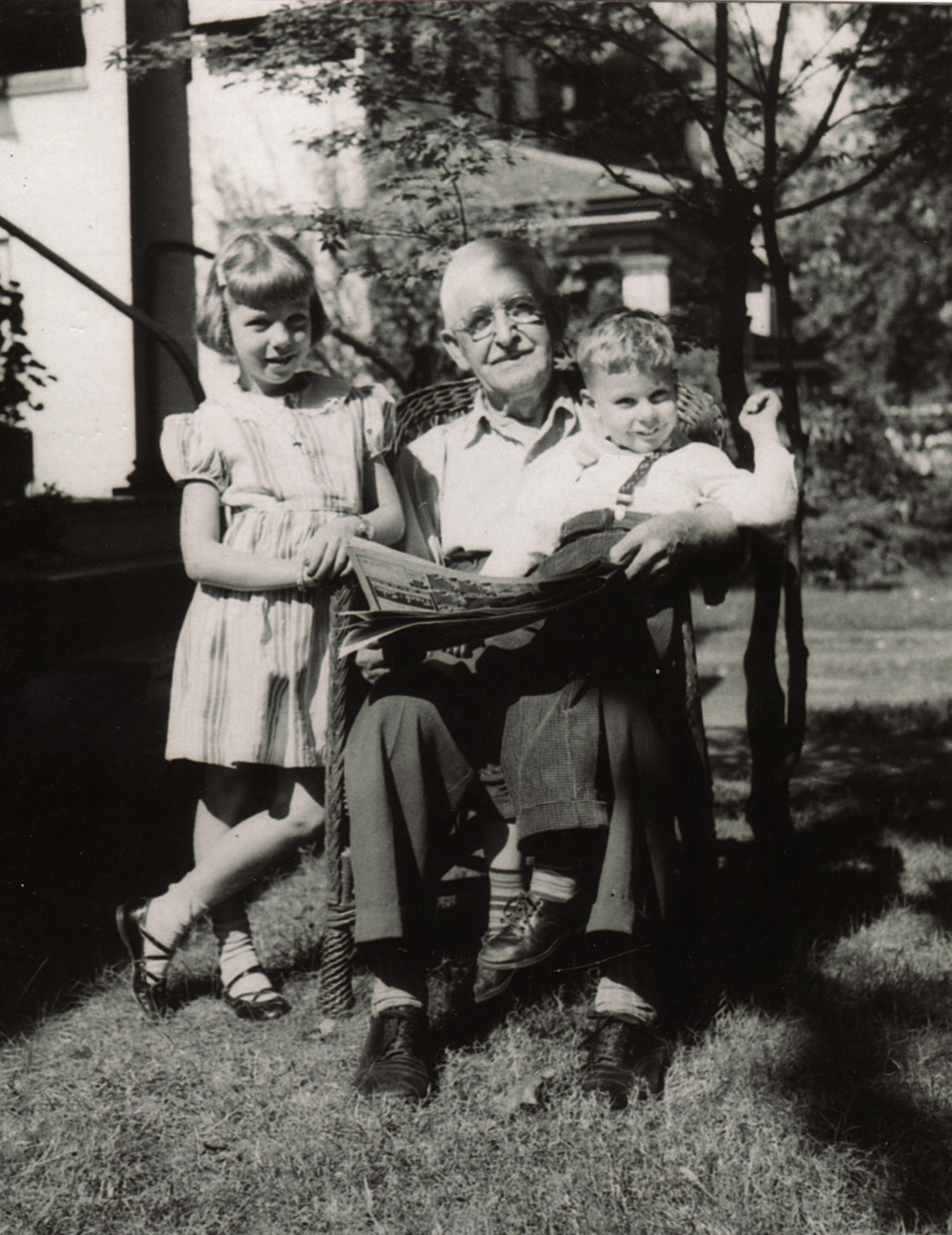 Otto stauffer with winnie and eddie photo