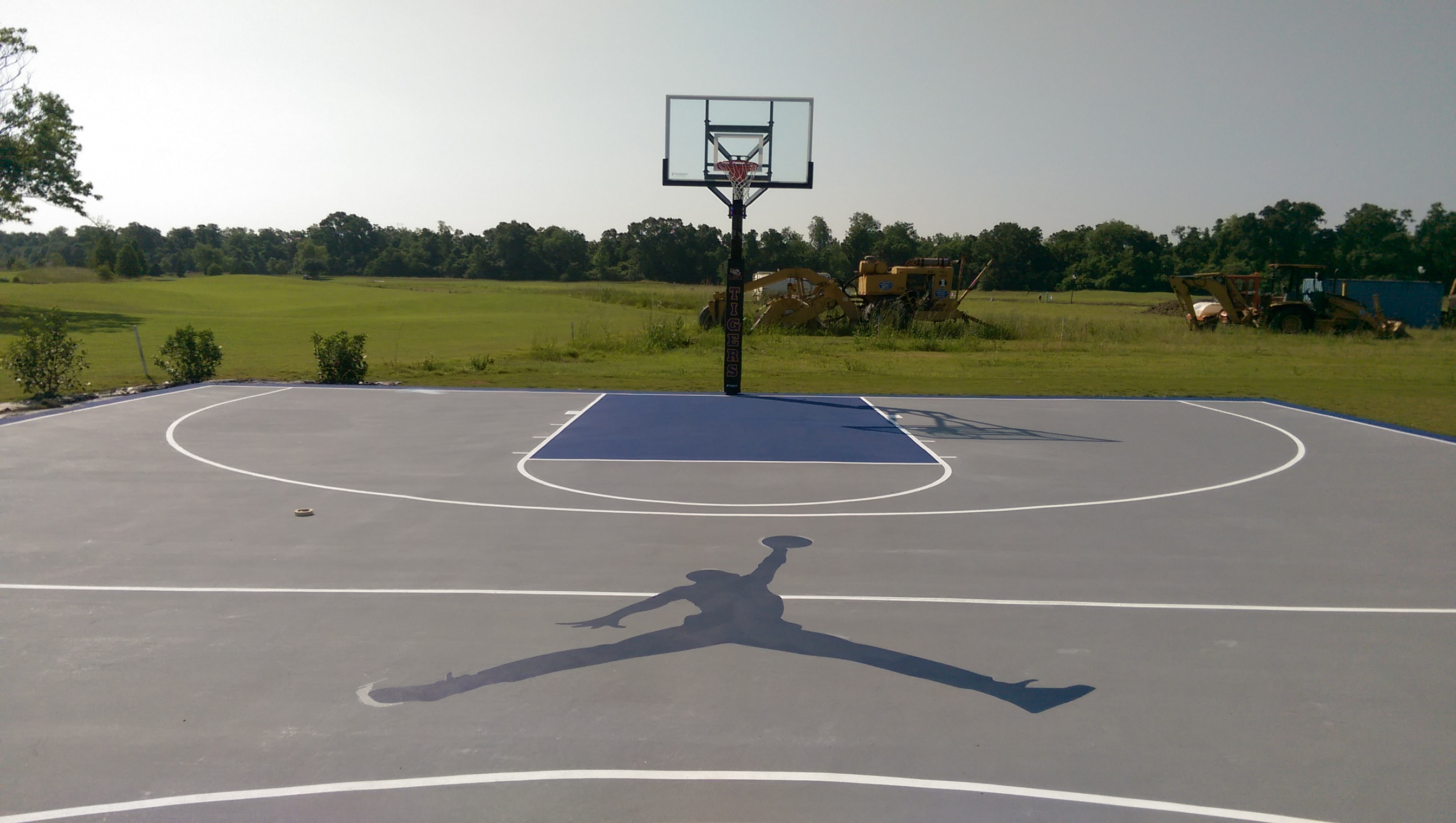 Outdoor Basketball Court Build - Outdoor Designs