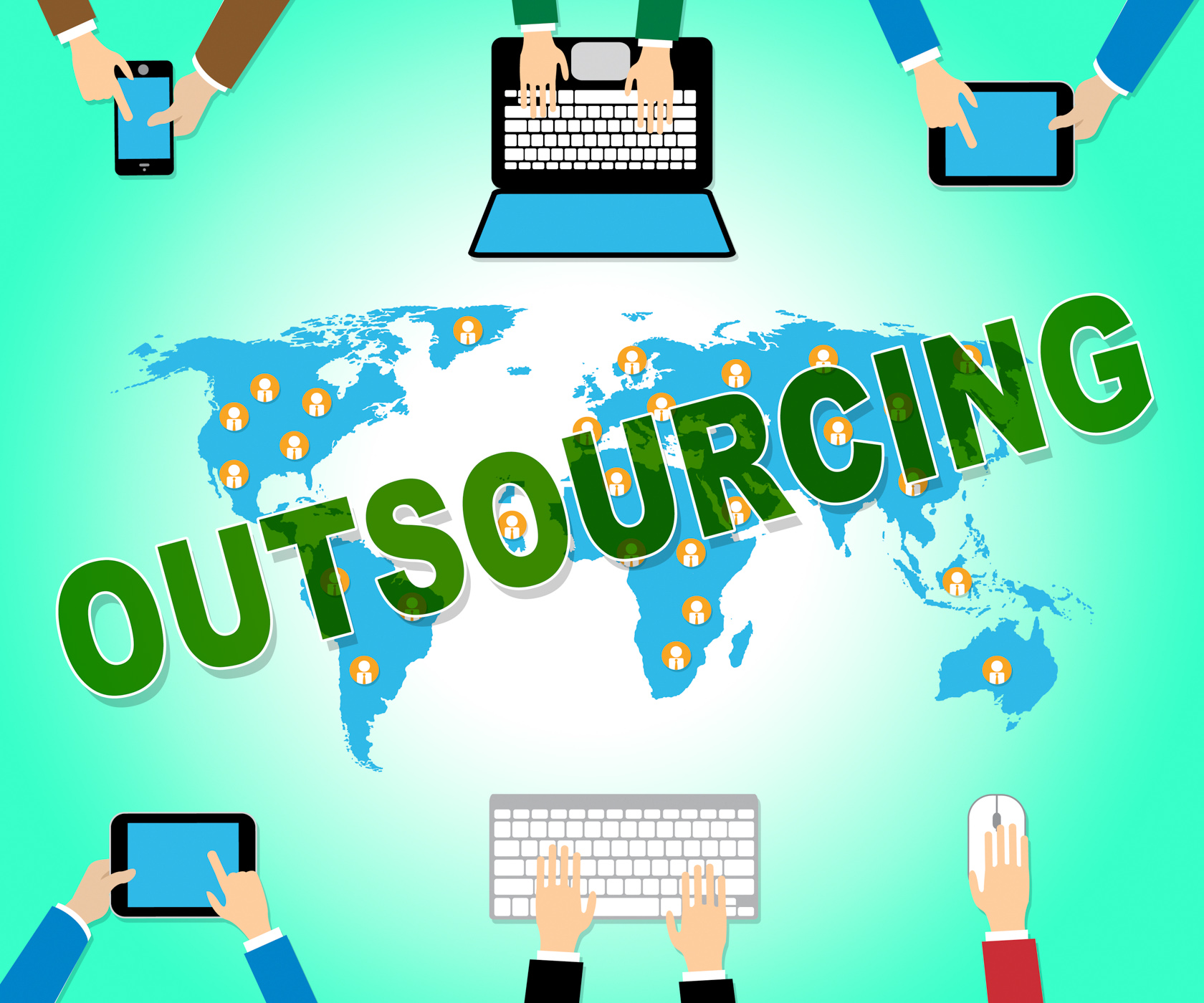 Outsourcing Online Represents Web Site And Contractor, Contract, Outsourcing, Websites, Website, HQ Photo