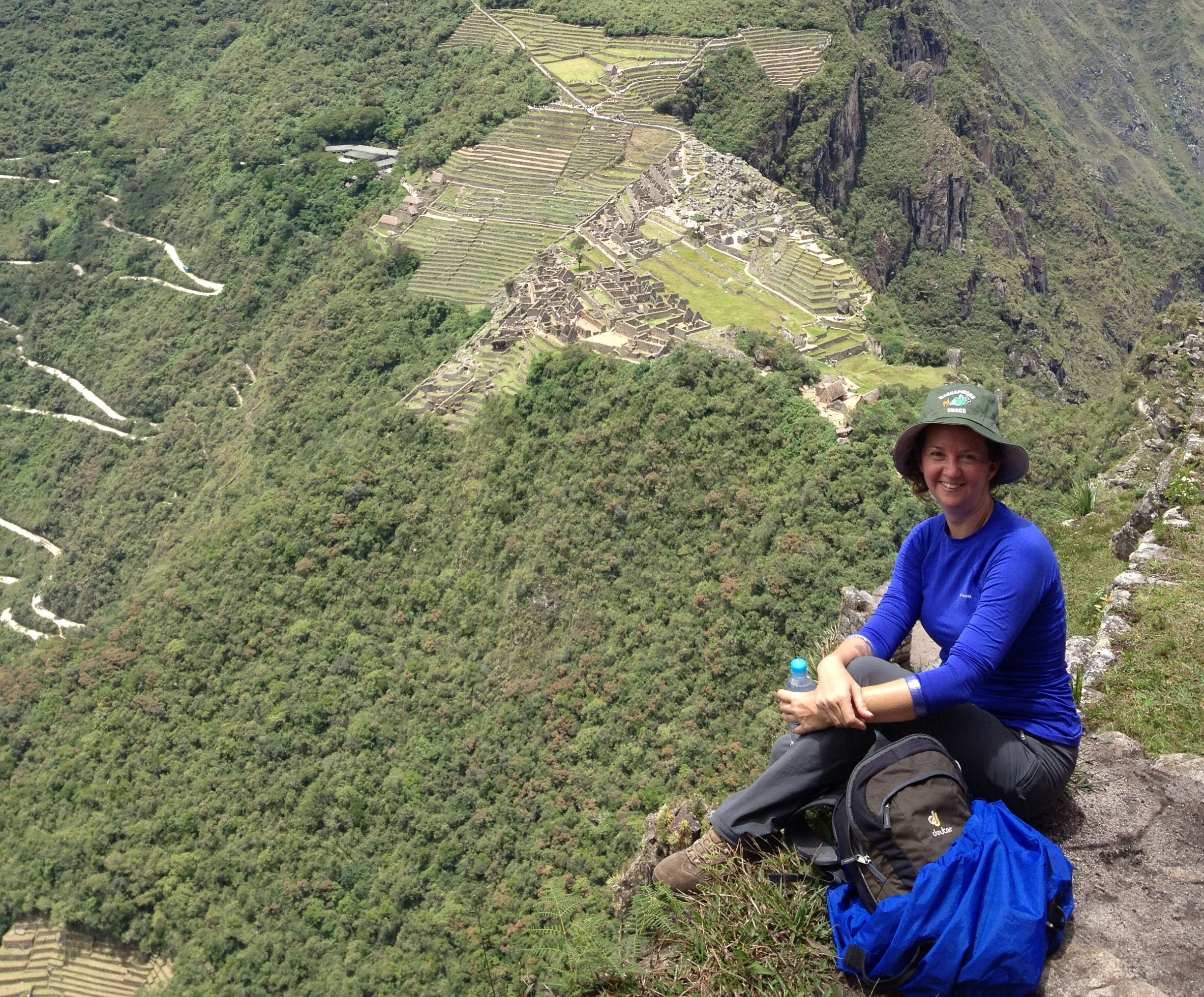 Overlooking machu picchu photo