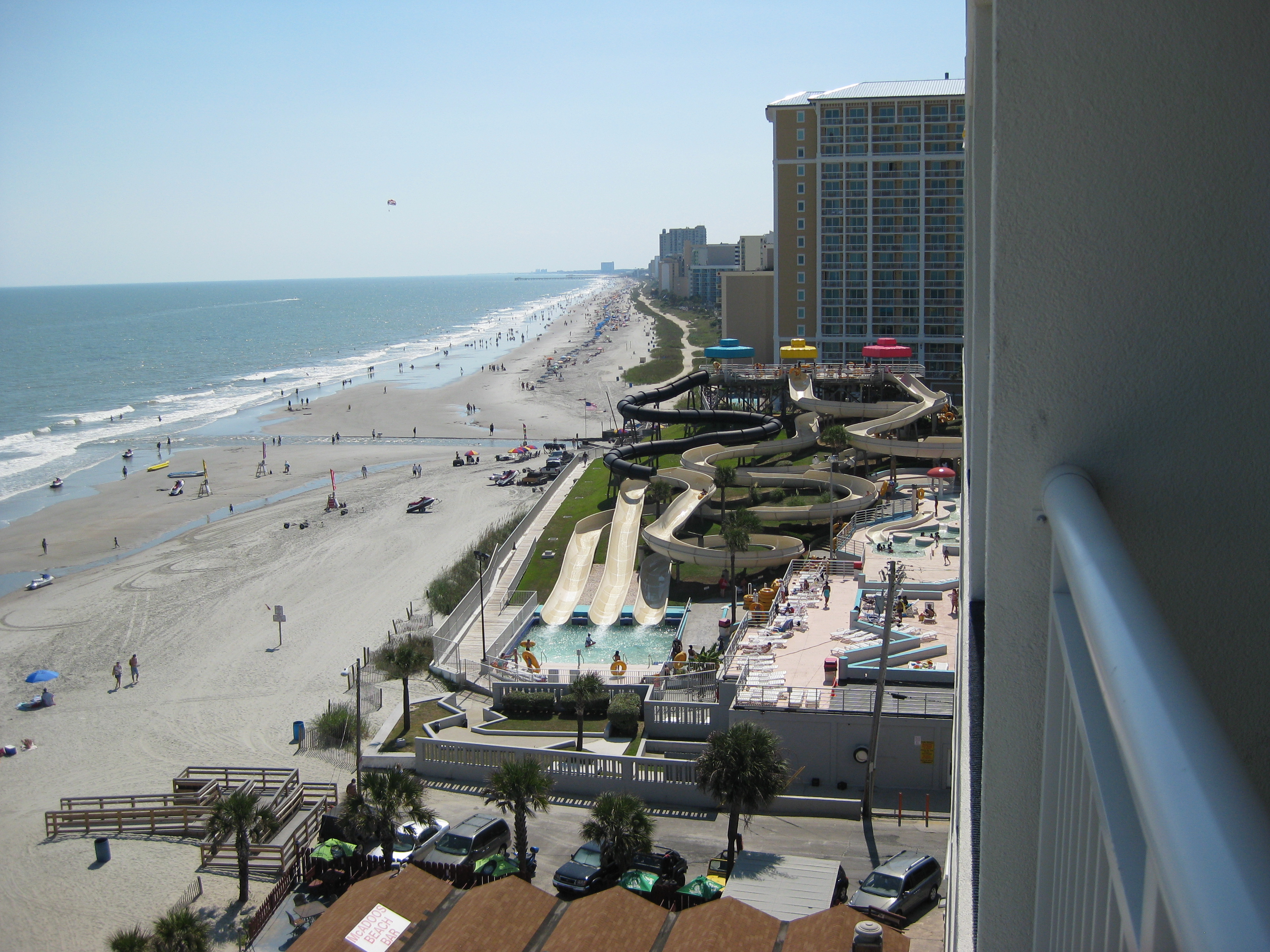 Overlooking the crowded beach, Beach, Hotel, Landscape, Overview, HQ Photo