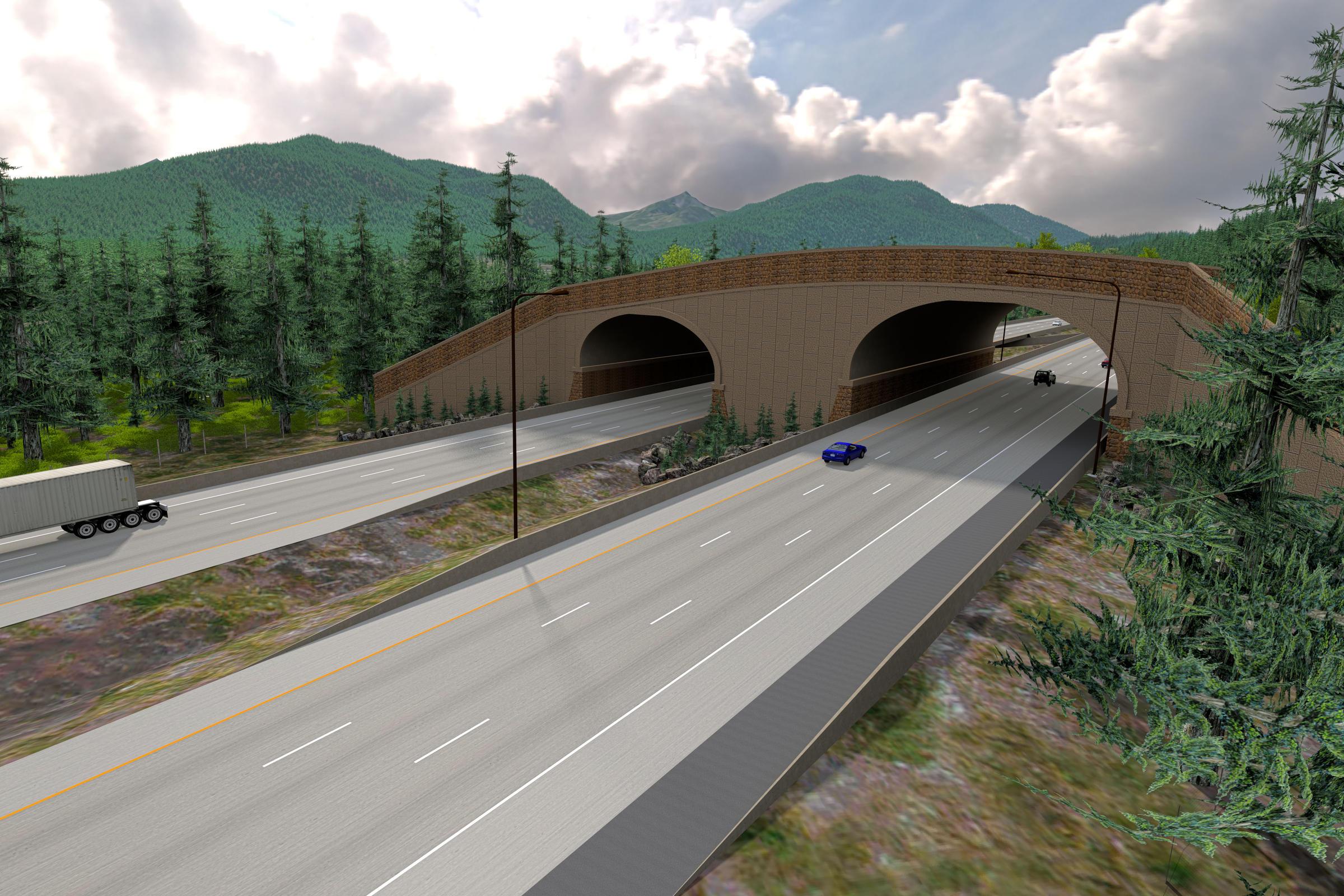 Snakes on an overpass: I-90 installs wildlife crossing near ...