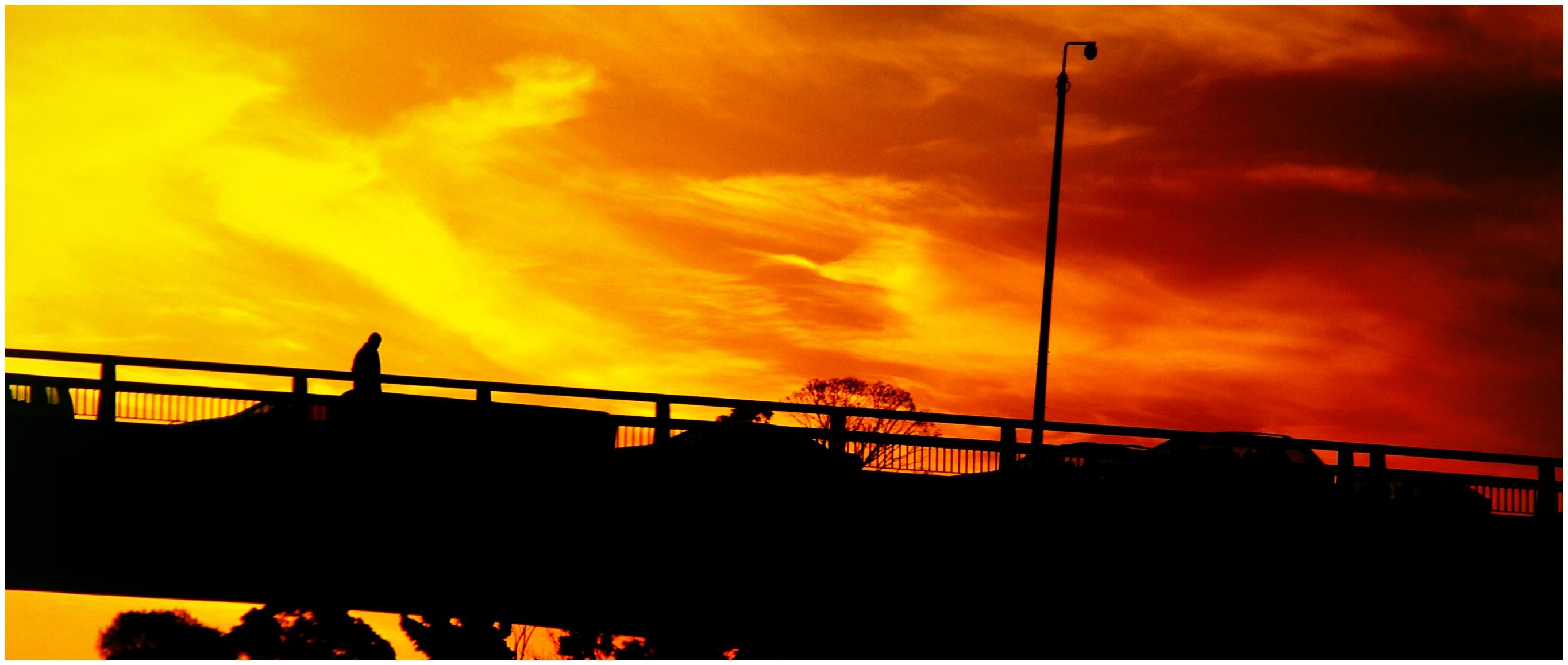 Overpass, sunset