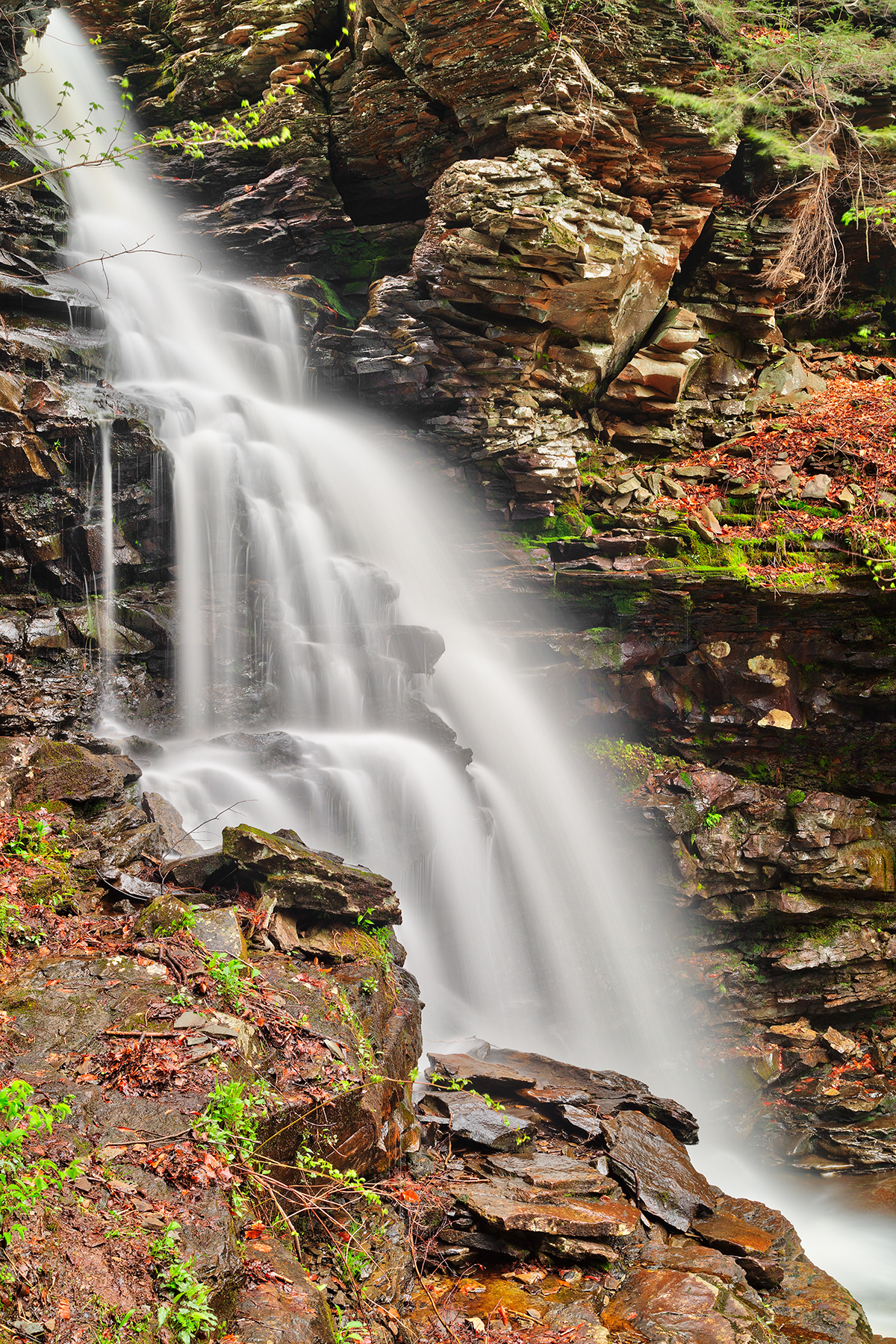 Ozone Profile Falls - HDR, , Picturesque, Rugged, Rough, HQ Photo