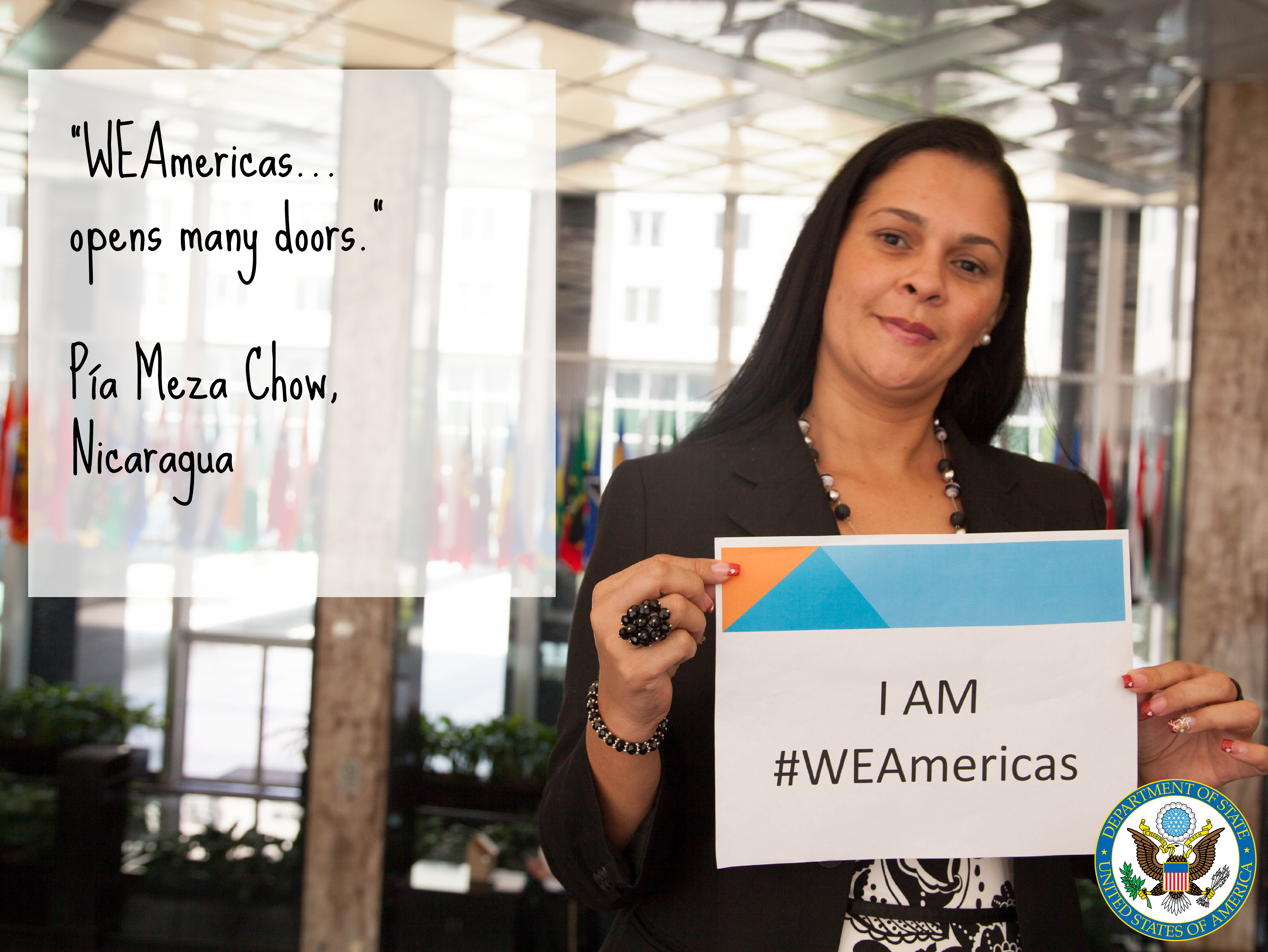 Pía, WEAmericas participant from Nicaragua, America, People, Women, WHA, HQ Photo